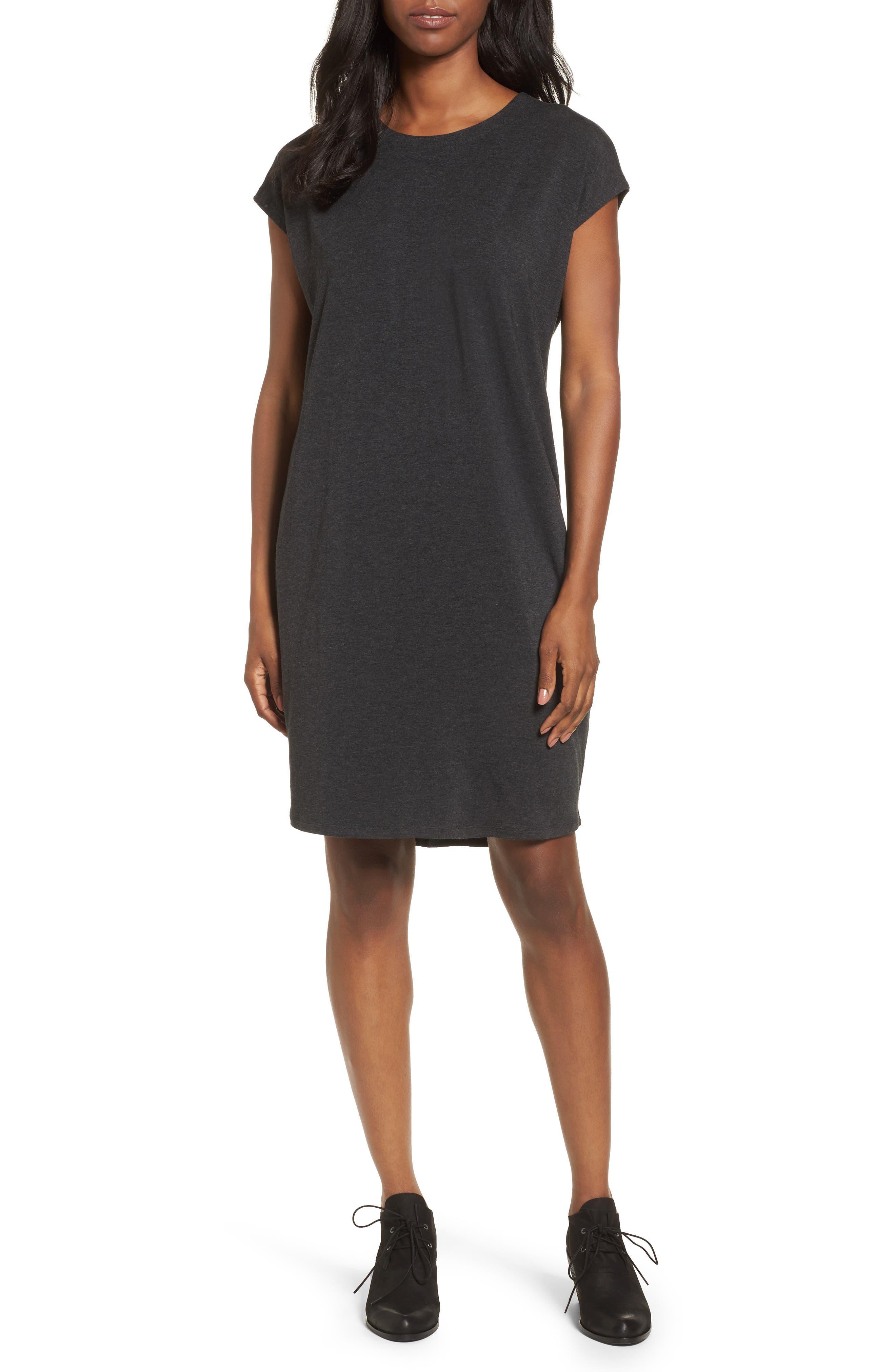 Eileen Fisher Stretch Tencel® Knit Shift Dress