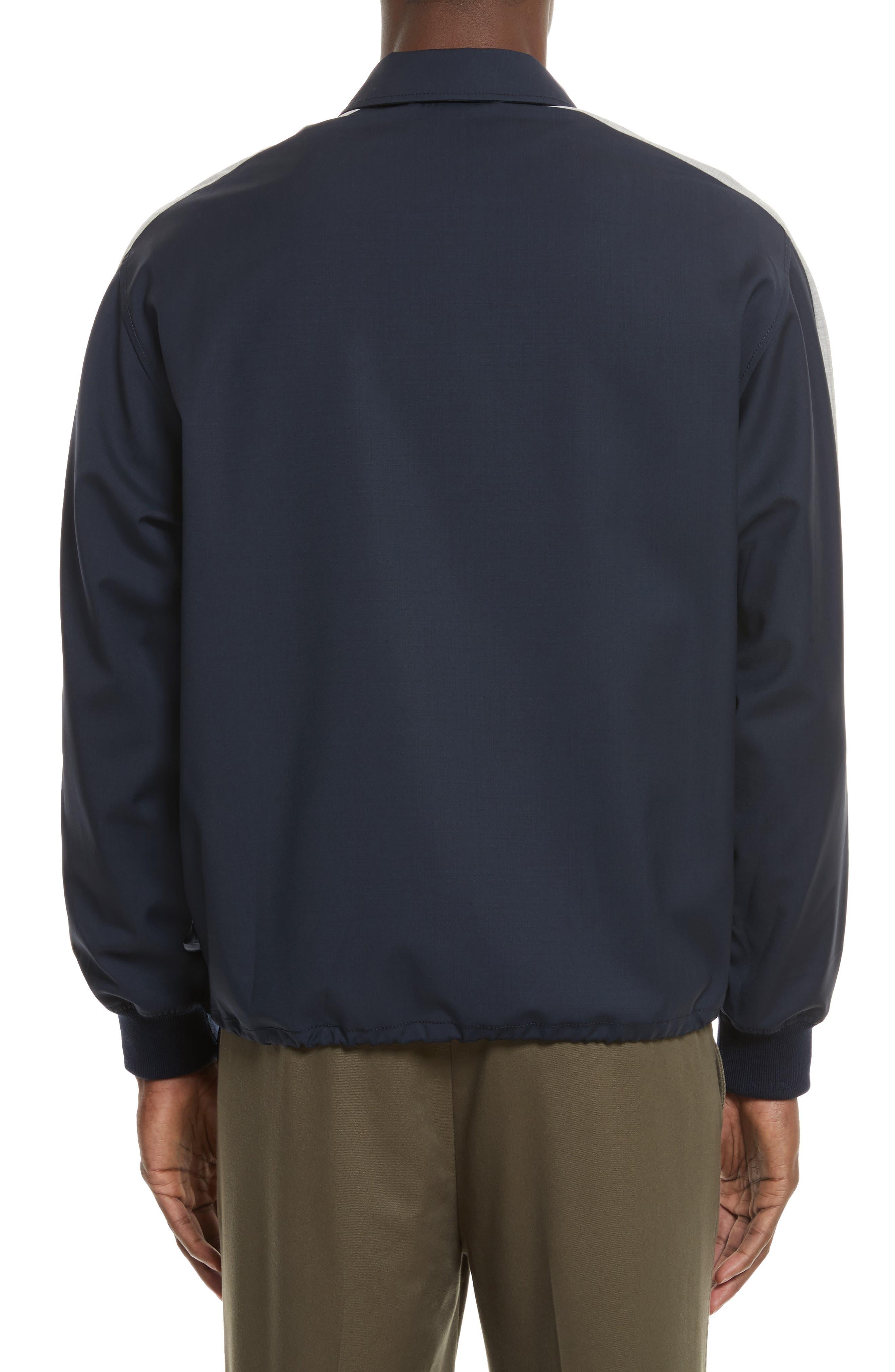 Wool Coachs Jacket,                             Alternate thumbnail 2, color,                             Midnight