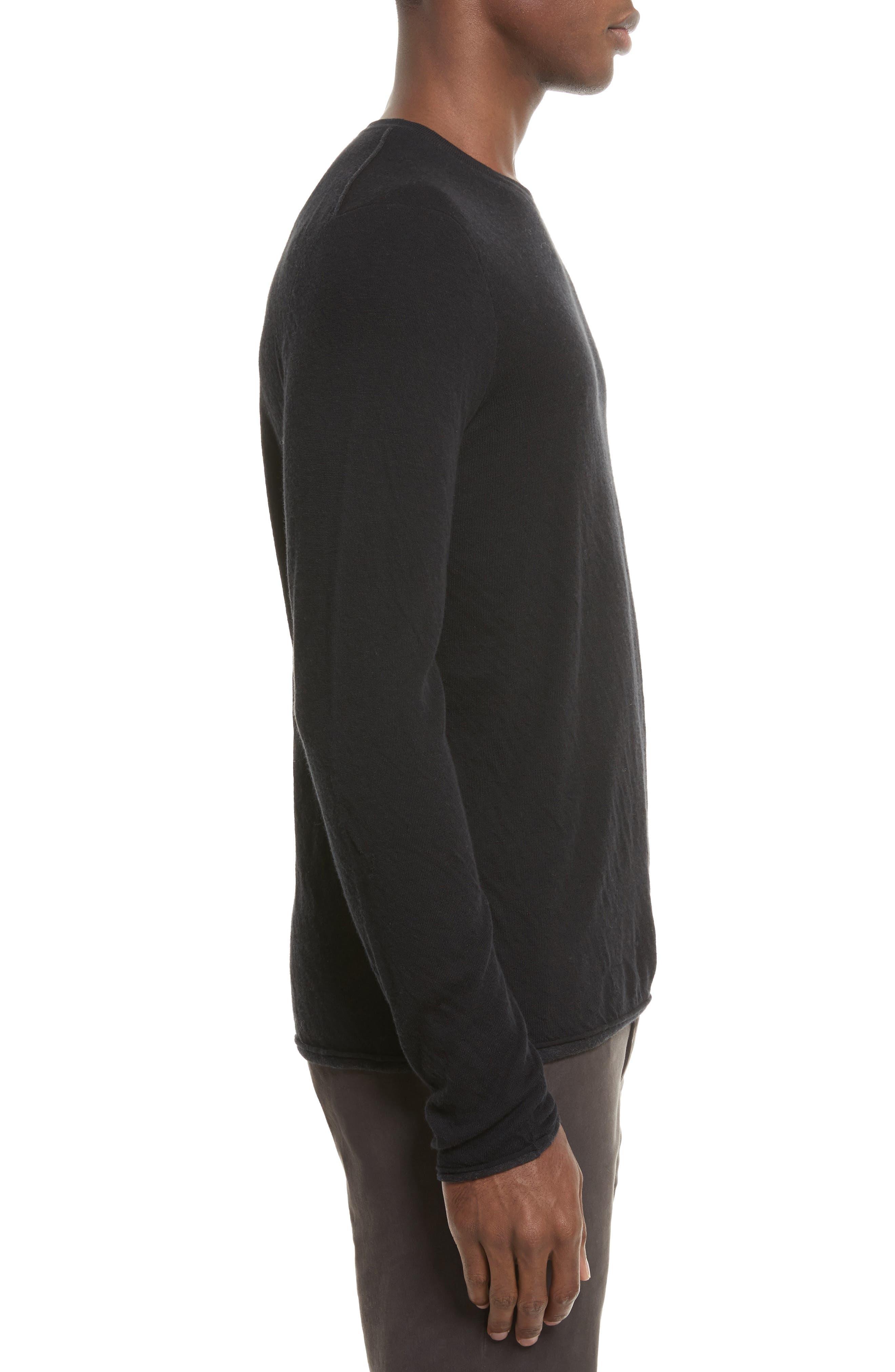 Tripp Crewneck Sweater,                             Alternate thumbnail 3, color,                             Black