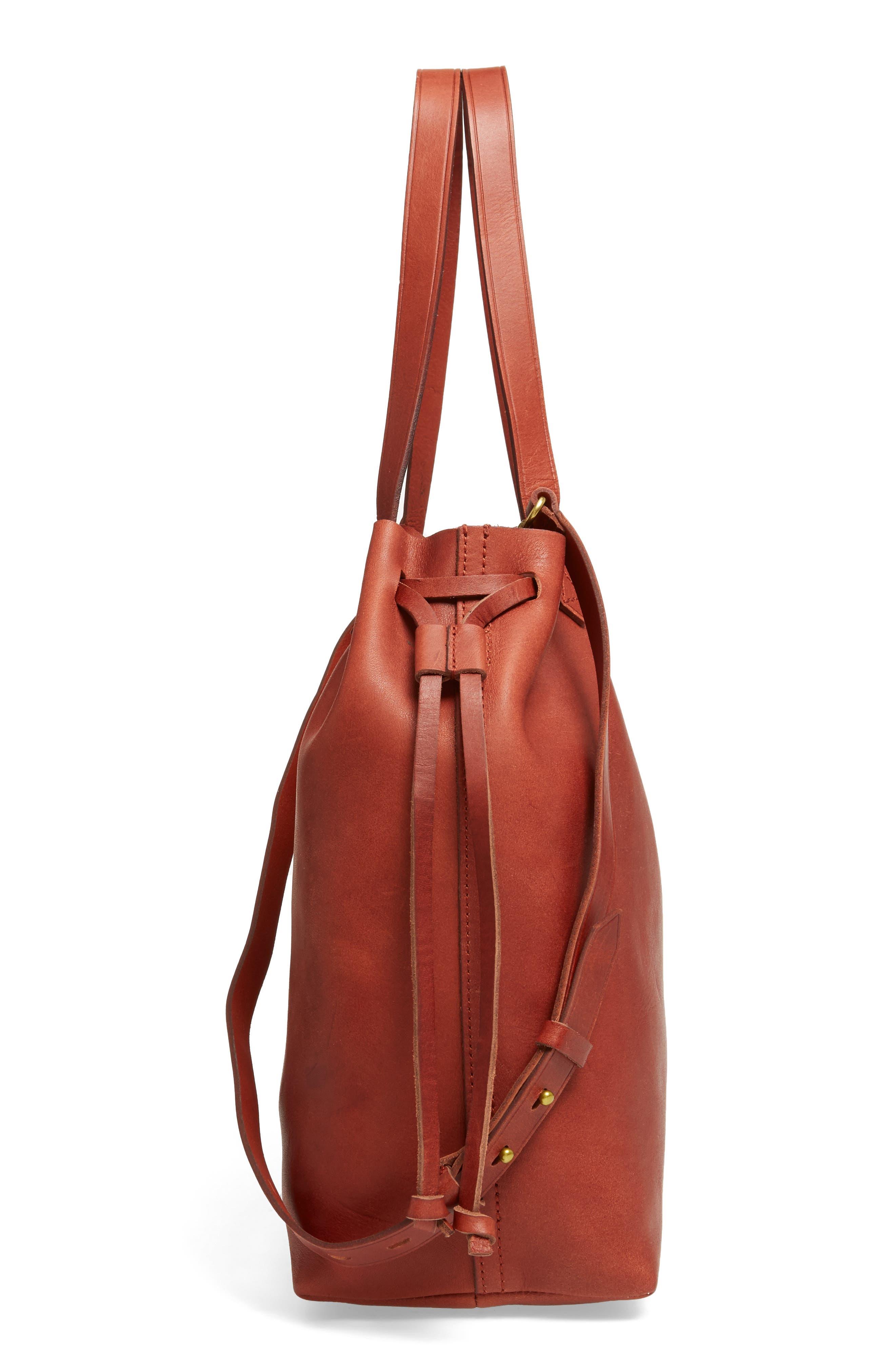 Alternate Image 5  - Madewell Medium Transport Leather Bucket Bag
