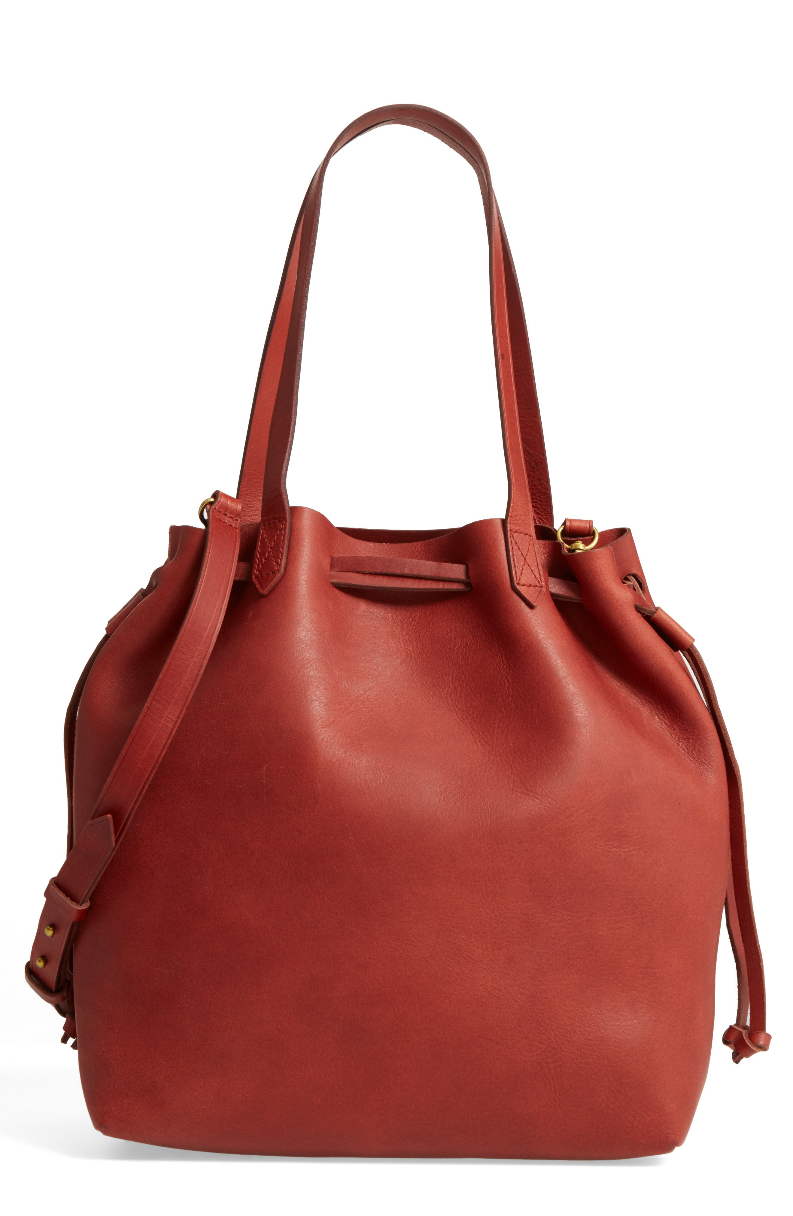 Main Image - Madewell Medium Drawstring Transport Leather Tote