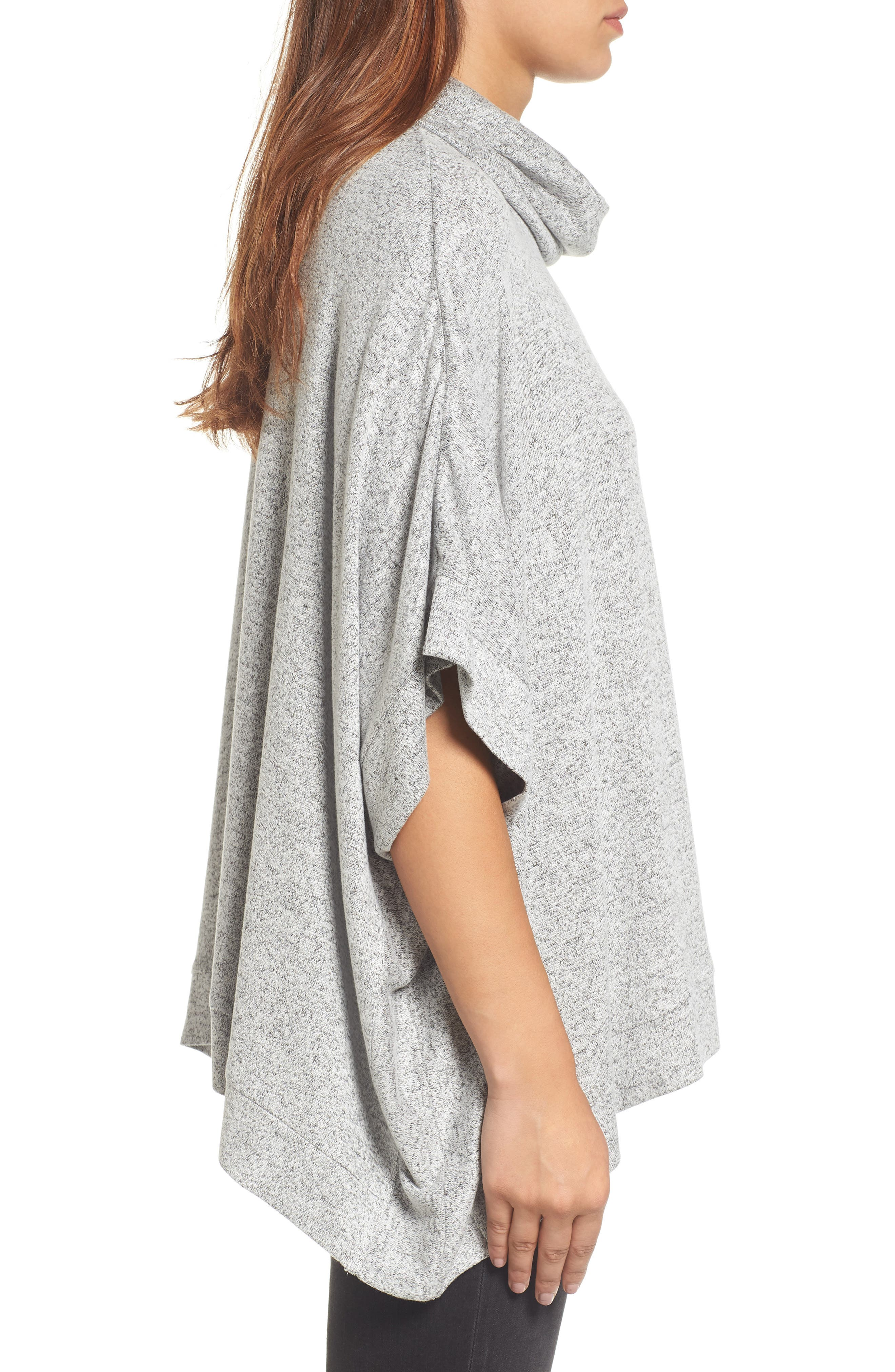 Alternate Image 3  - Caslon® Cowl Neck Poncho (Regular & Petite)