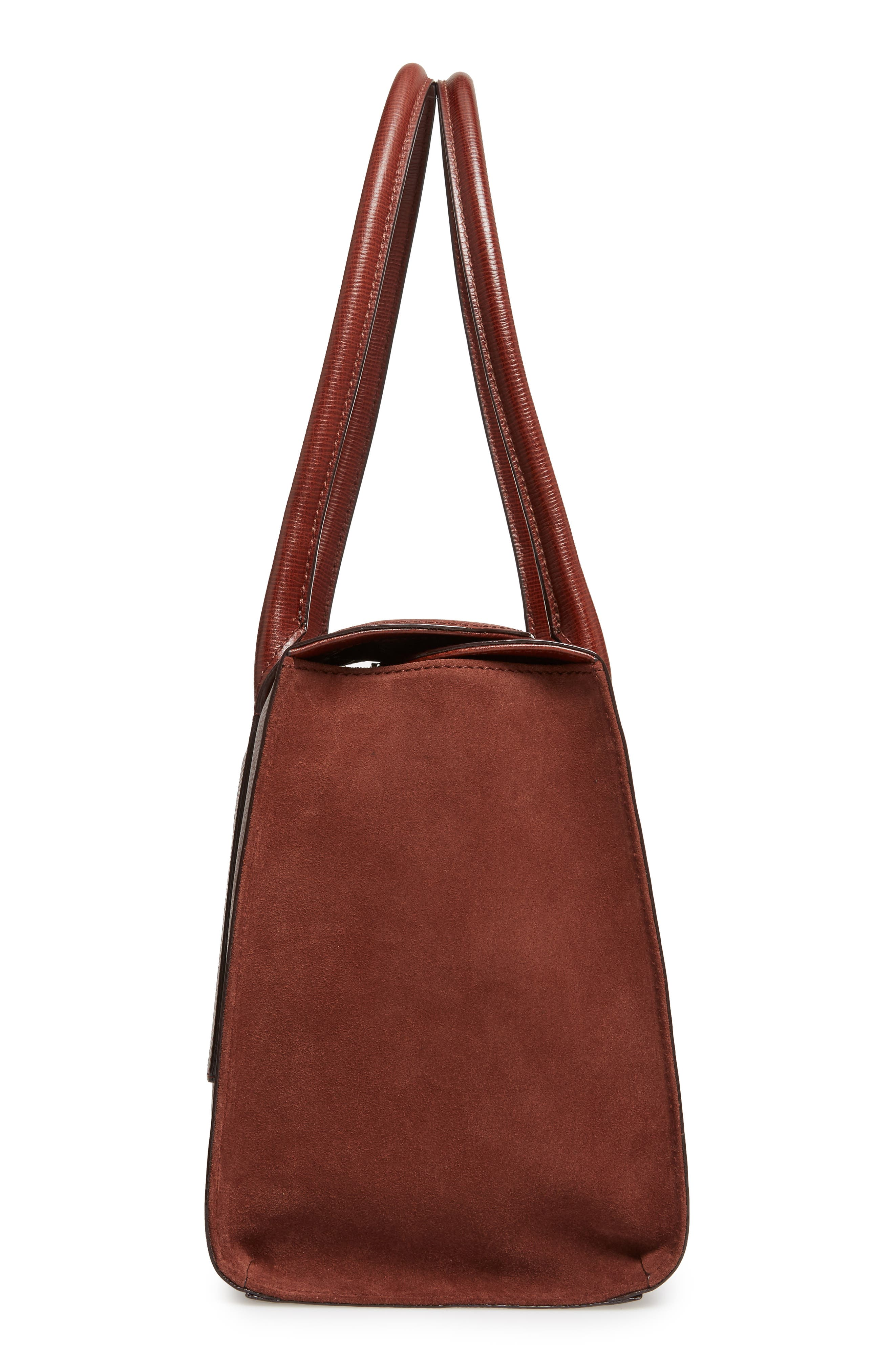 Alternate Image 5  - Lodis Business Chic Paula RFID-Protected Coated Leather & Suede Brief Shoulder Bag