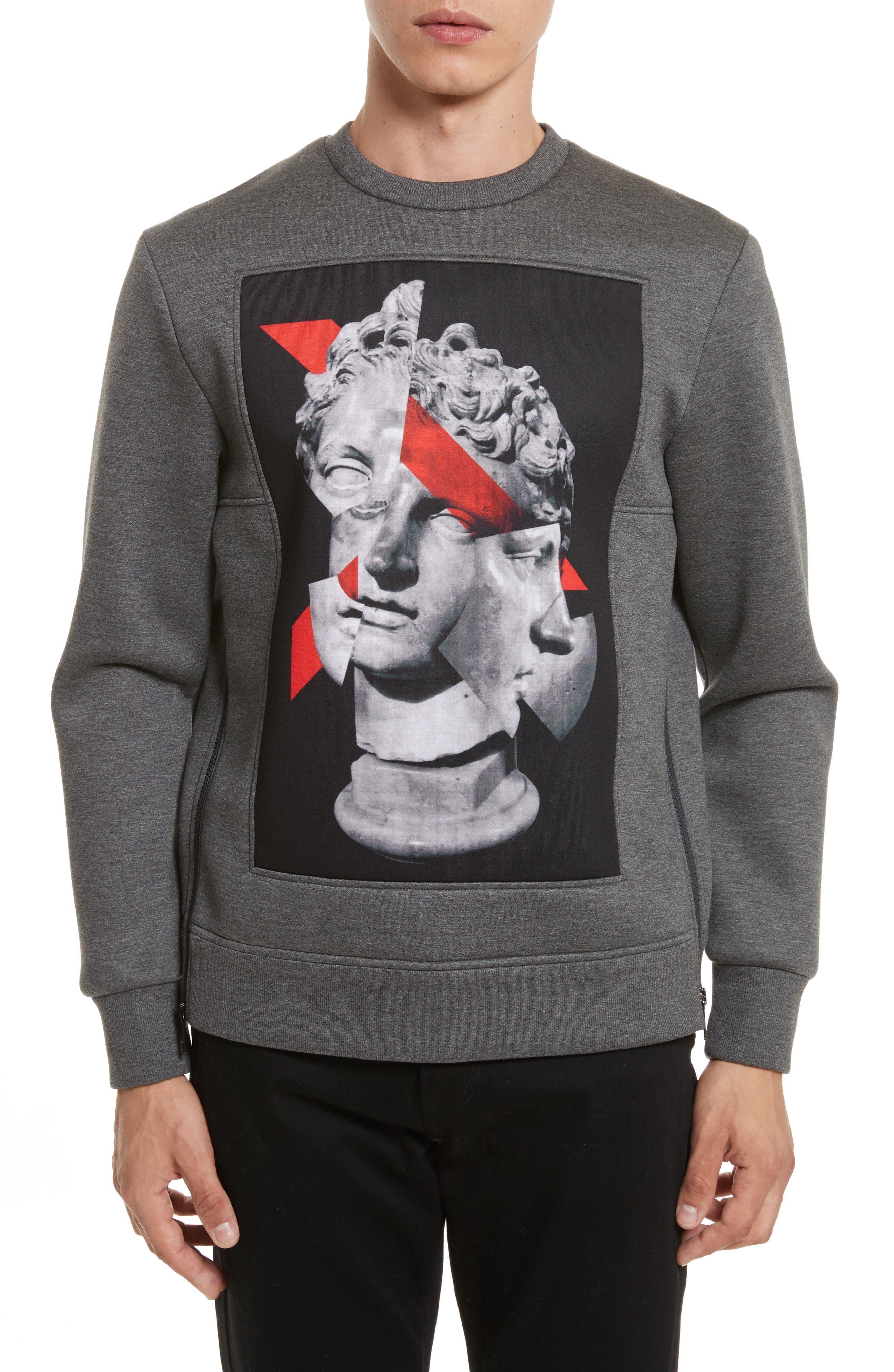 Neil Barrett Geo Print Side Zip Sweatshirt