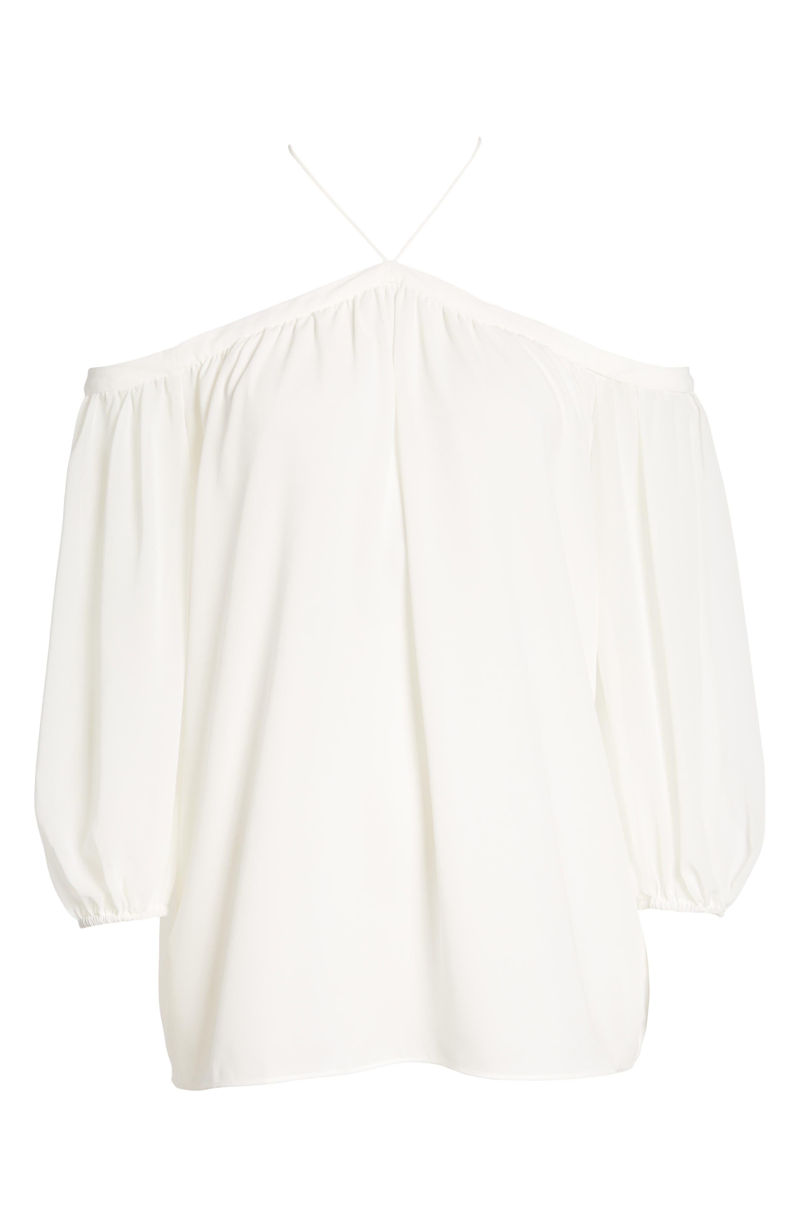 Clu Woman Off-the-shoulder Shirred Cotton-gauze Top White Size XS Clu Really RCP3p6aHTJ