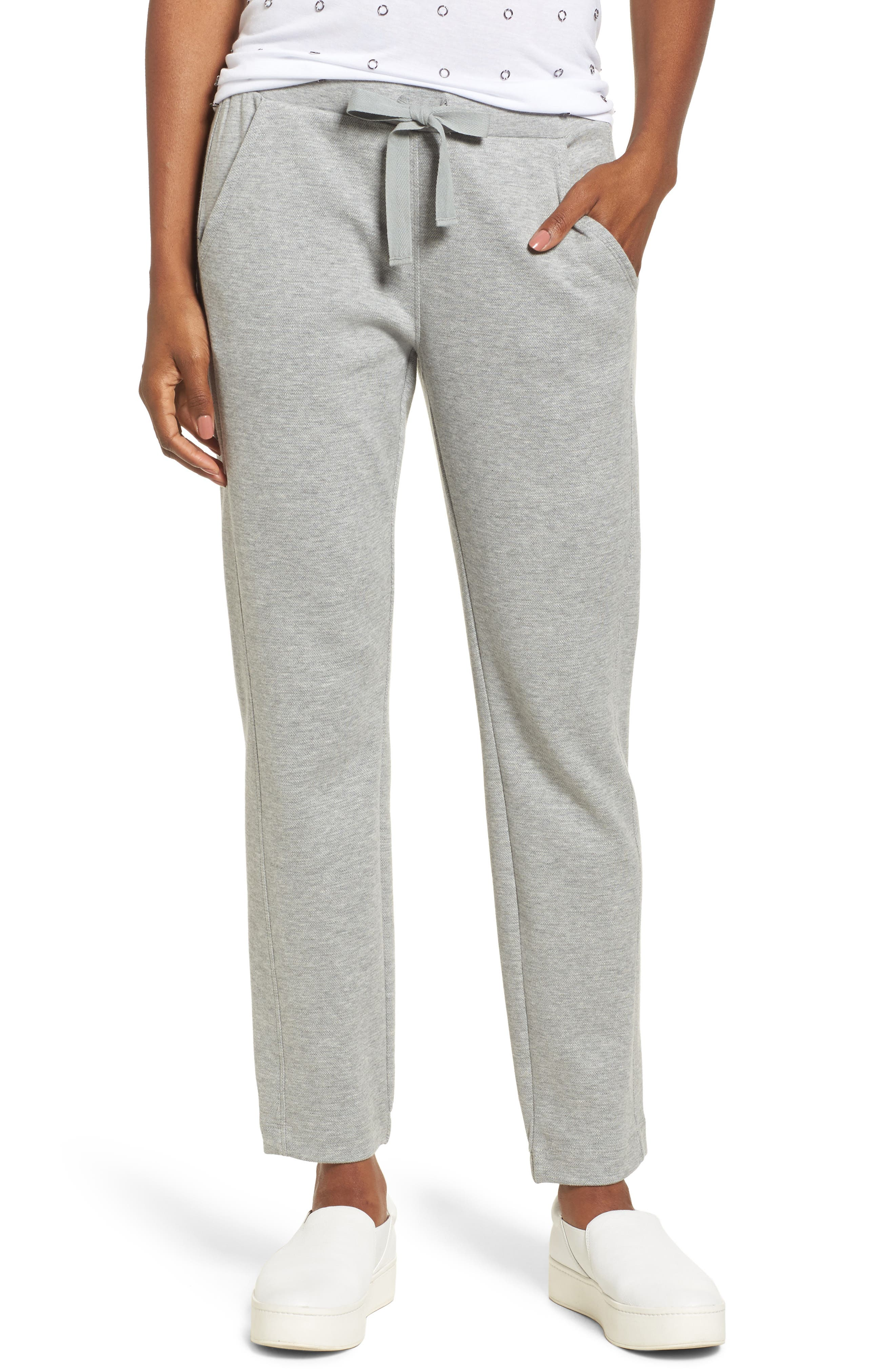 Pebble Jersey Jogger,                         Main,                         color, Heather Grey