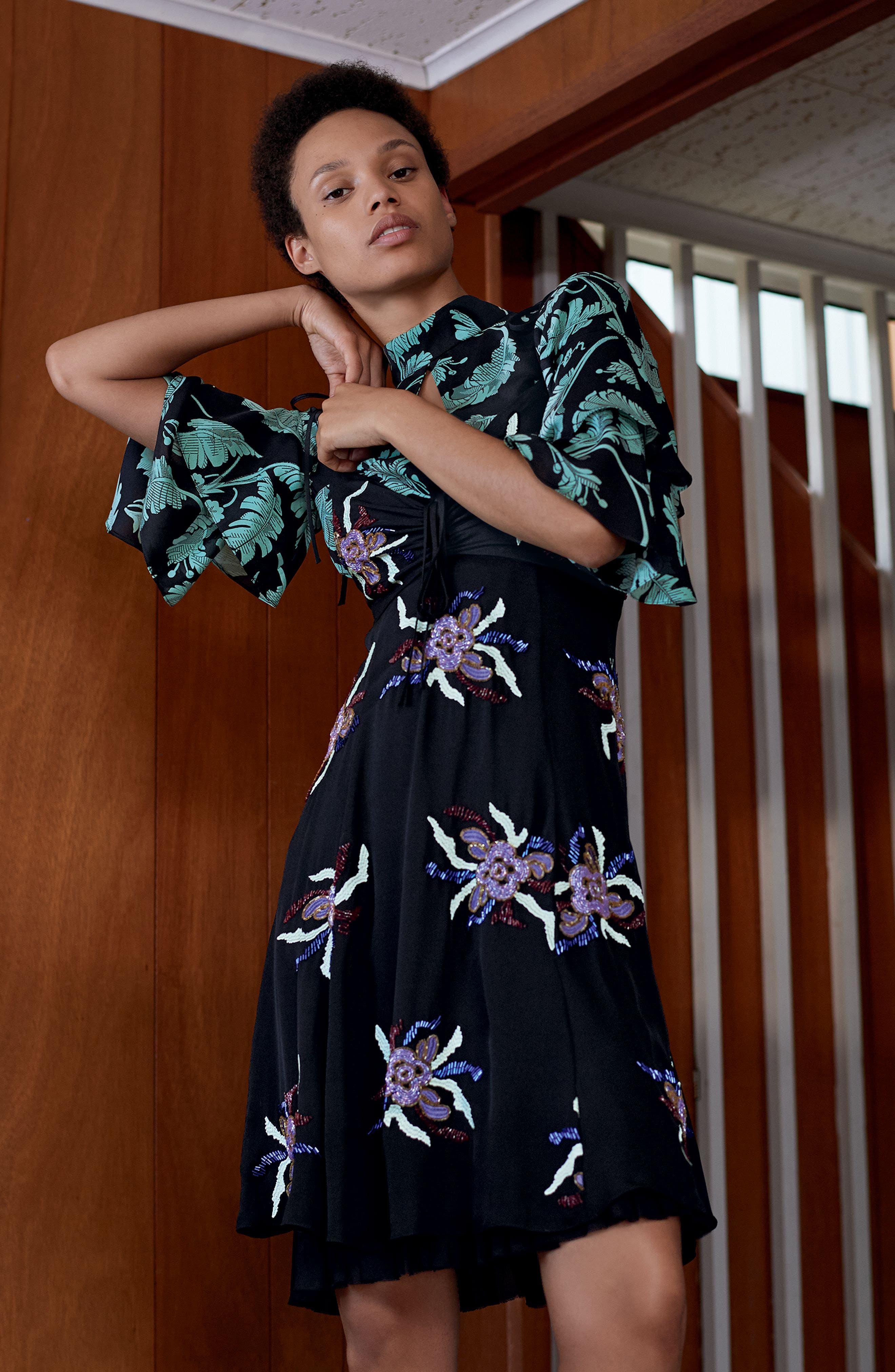 Alternate Image 2  - Cinq à Sept Porsca Embellished Silk Dress