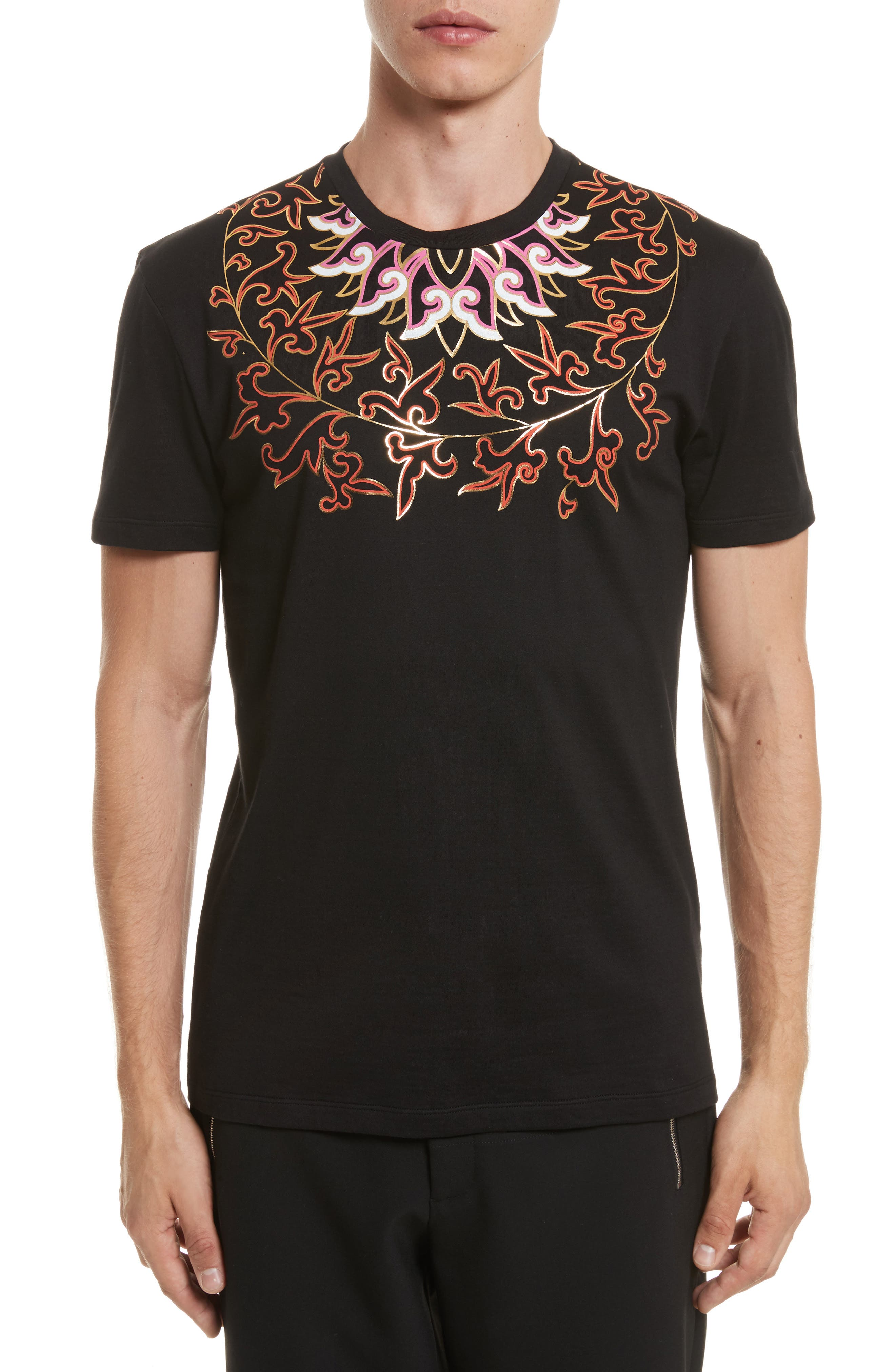 Alternate Image 1 Selected - Versace Collection Baroque Foil Print T-Shirt