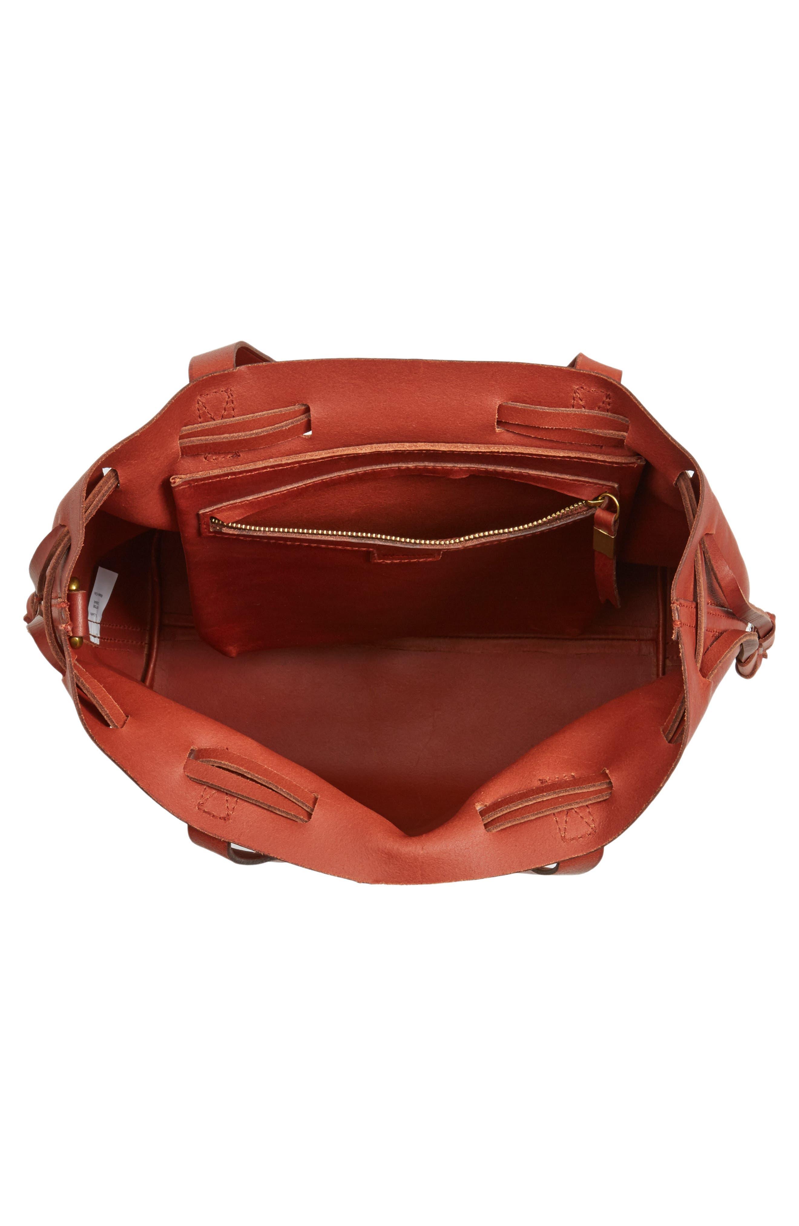 Alternate Image 4  - Madewell Medium Transport Leather Bucket Bag