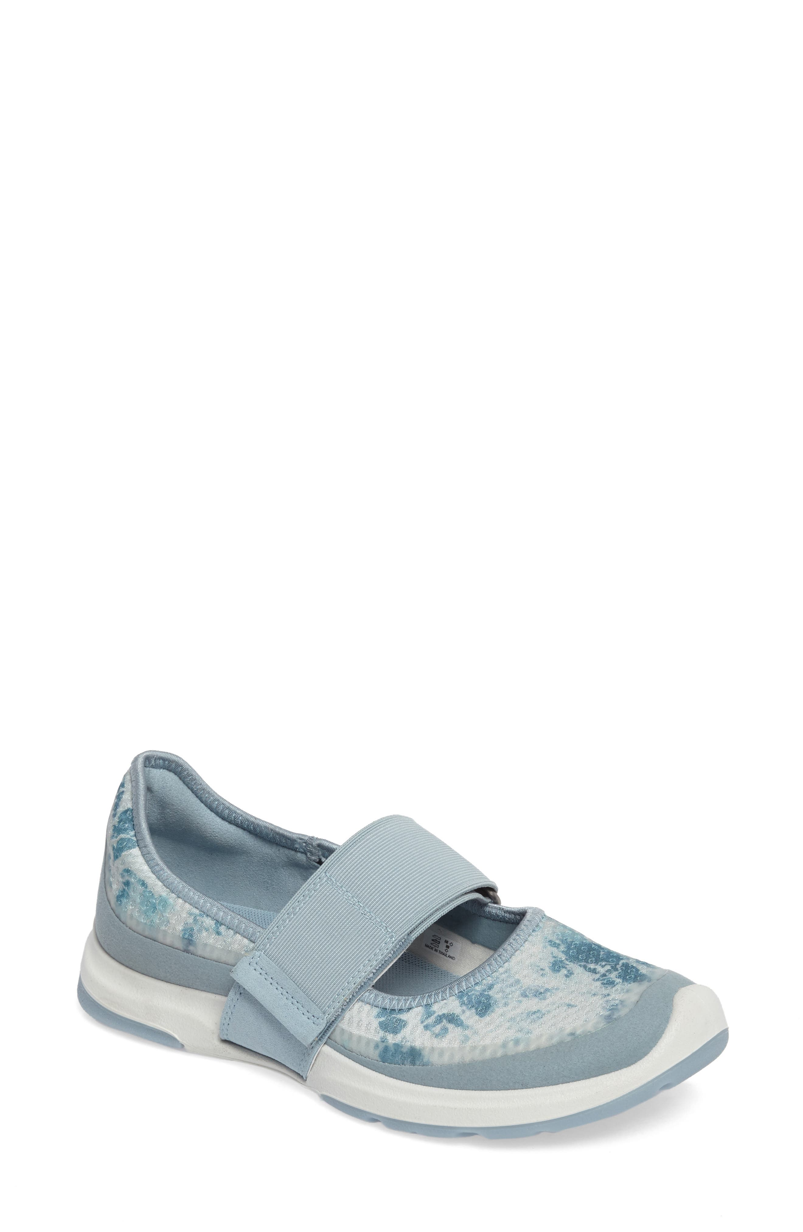 BIOM Amrap Mary Jane Band Flat,                         Main,                         color, Arona/ Biscaya Fabric
