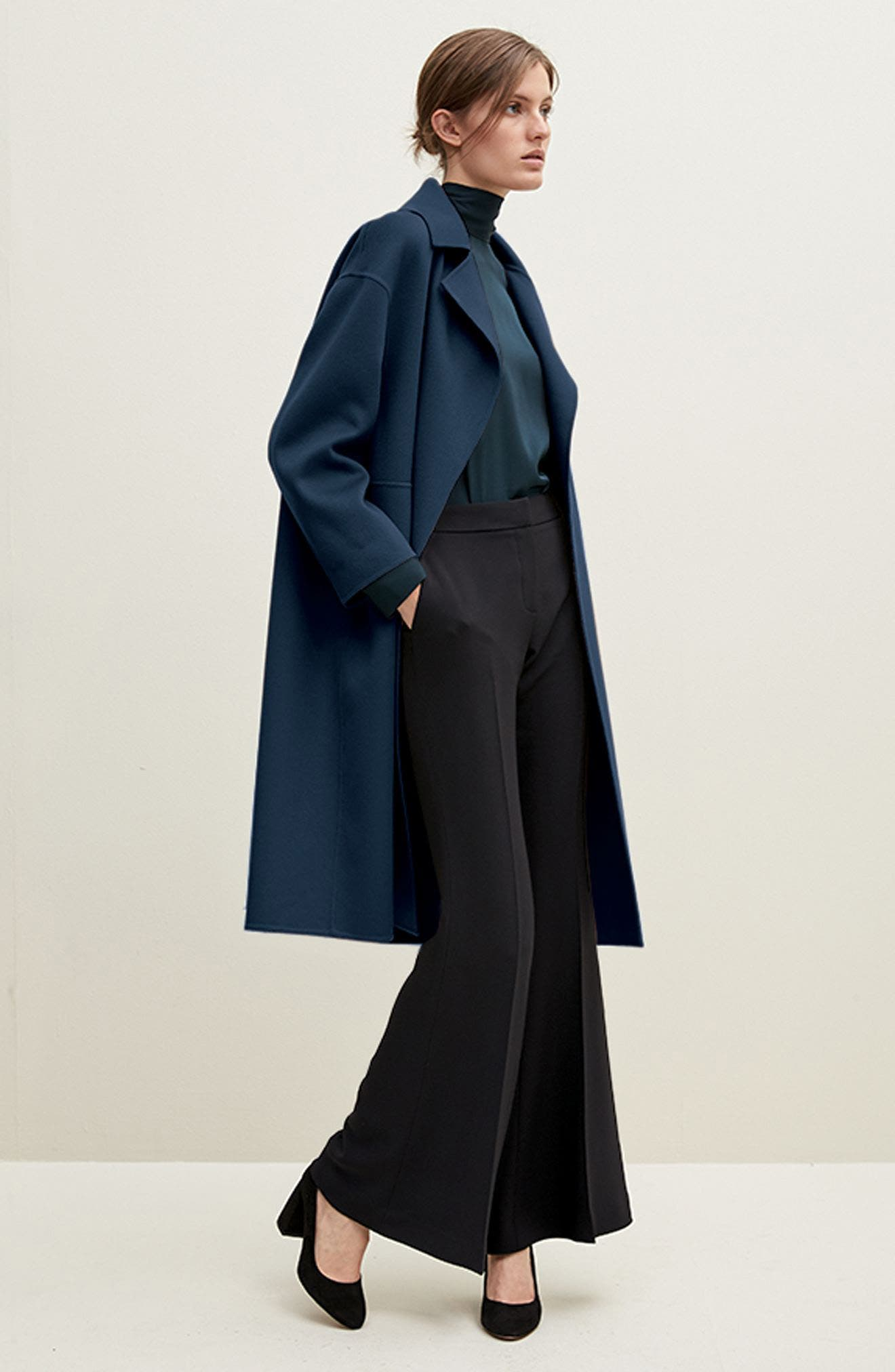 Double-Face Wool & Cashmere Coat,                             Alternate thumbnail 2, color,