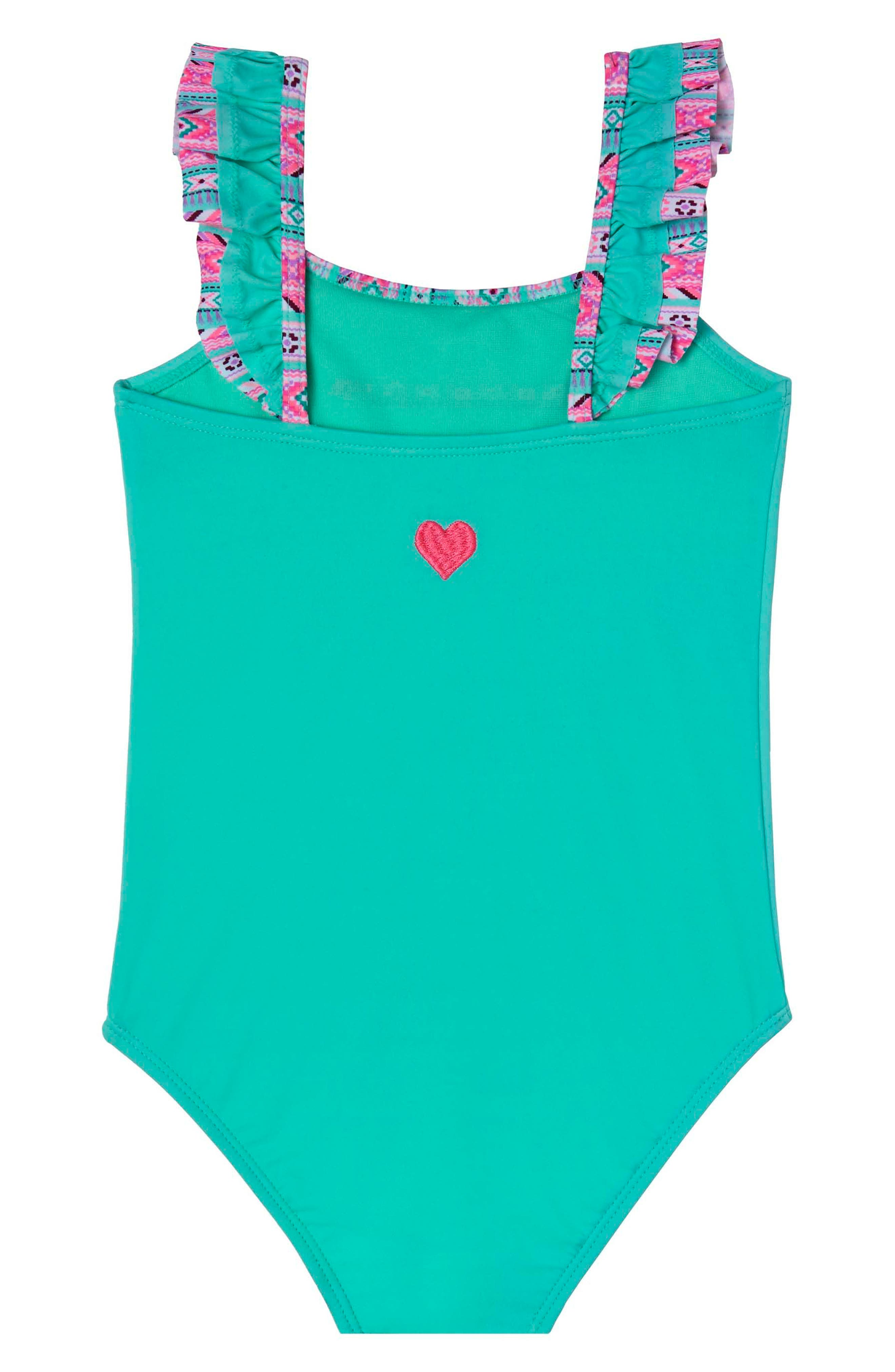 BFF One-Piece Swimsuit,                             Alternate thumbnail 2, color,                             Green