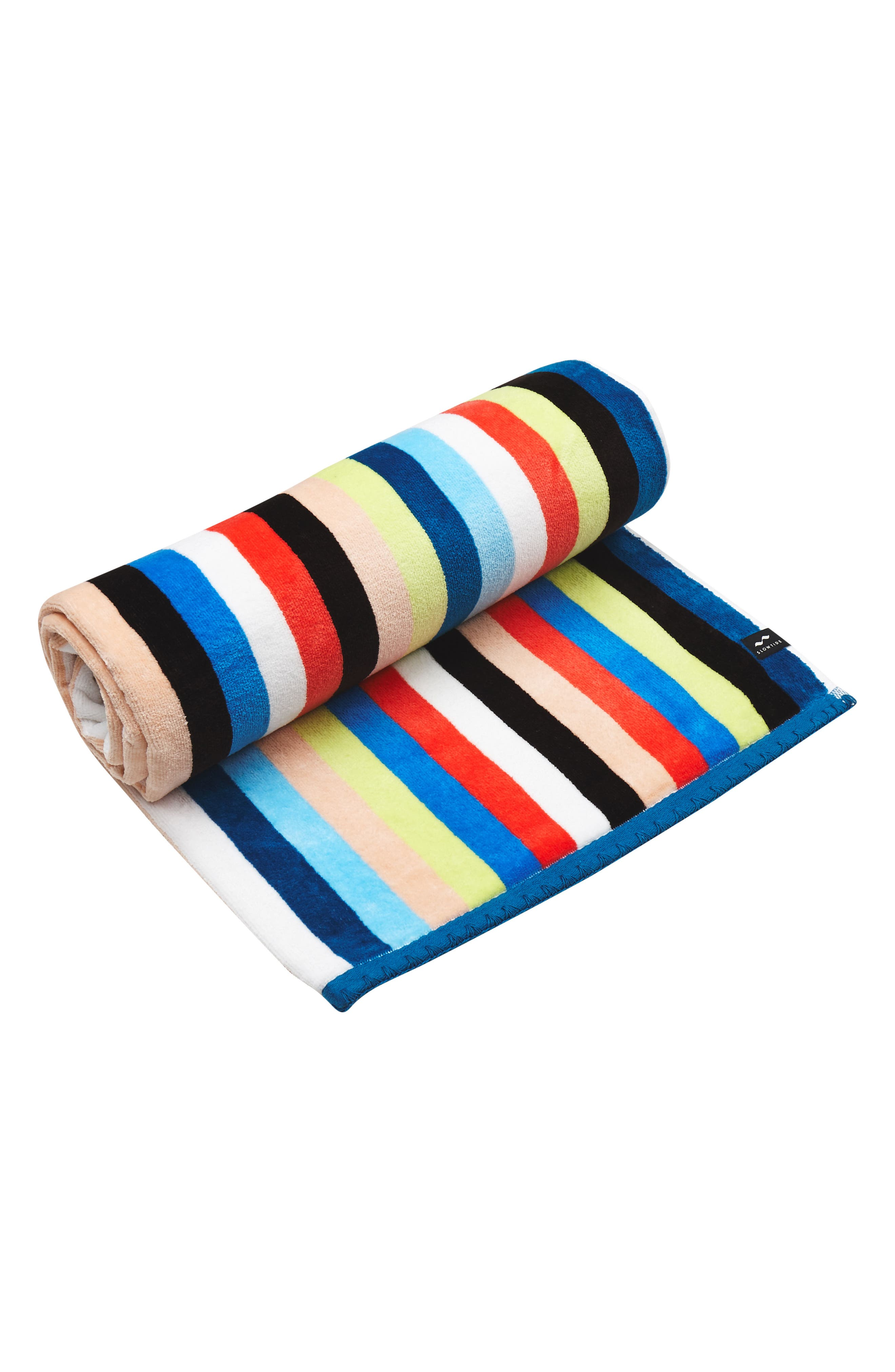 Versa Beach Towel,                             Alternate thumbnail 2, color,                             Blue Multi