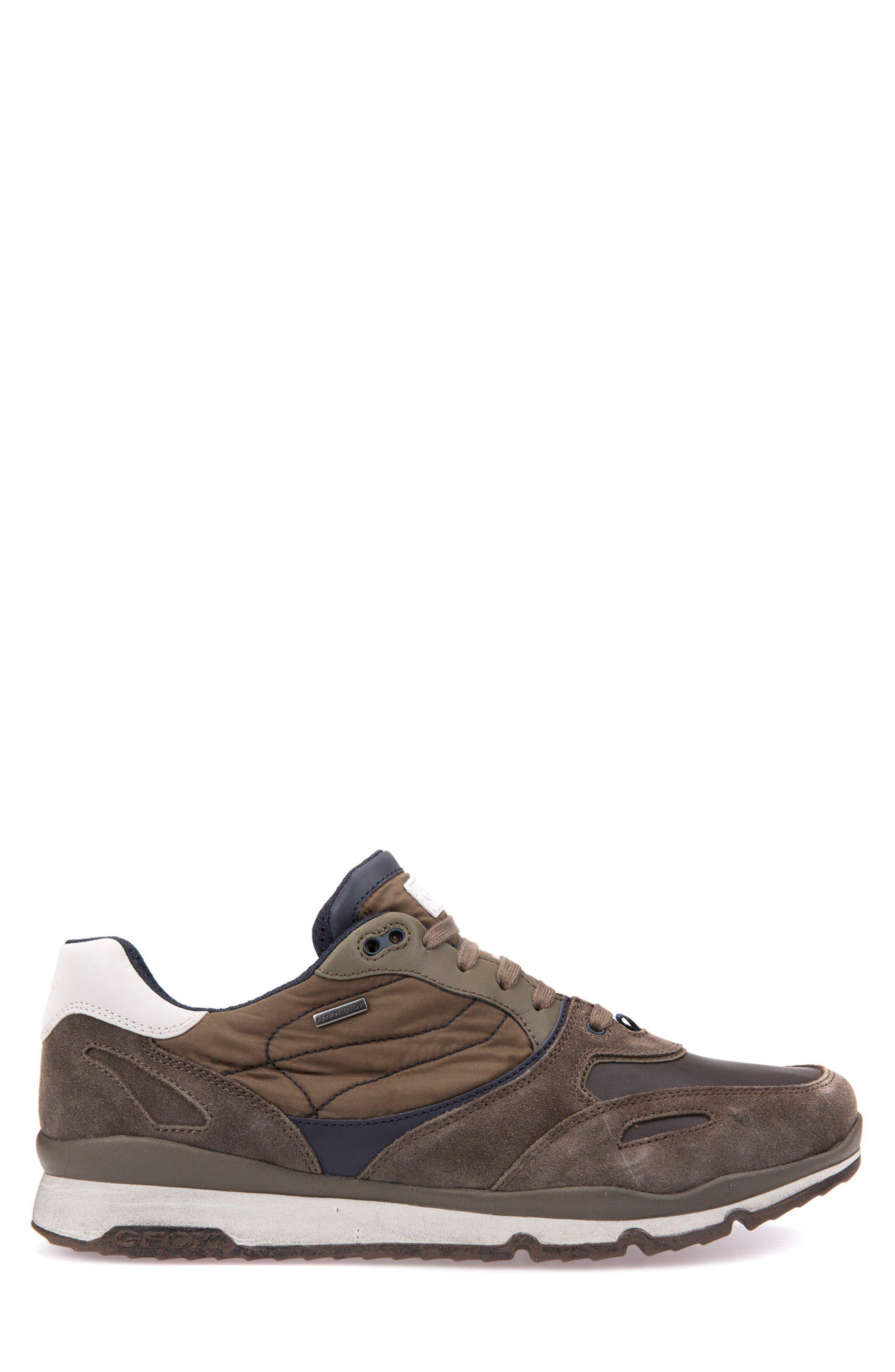 Sandro ABX Ambphibiox Waterproof Sneaker,                             Alternate thumbnail 3, color,                             Taupe