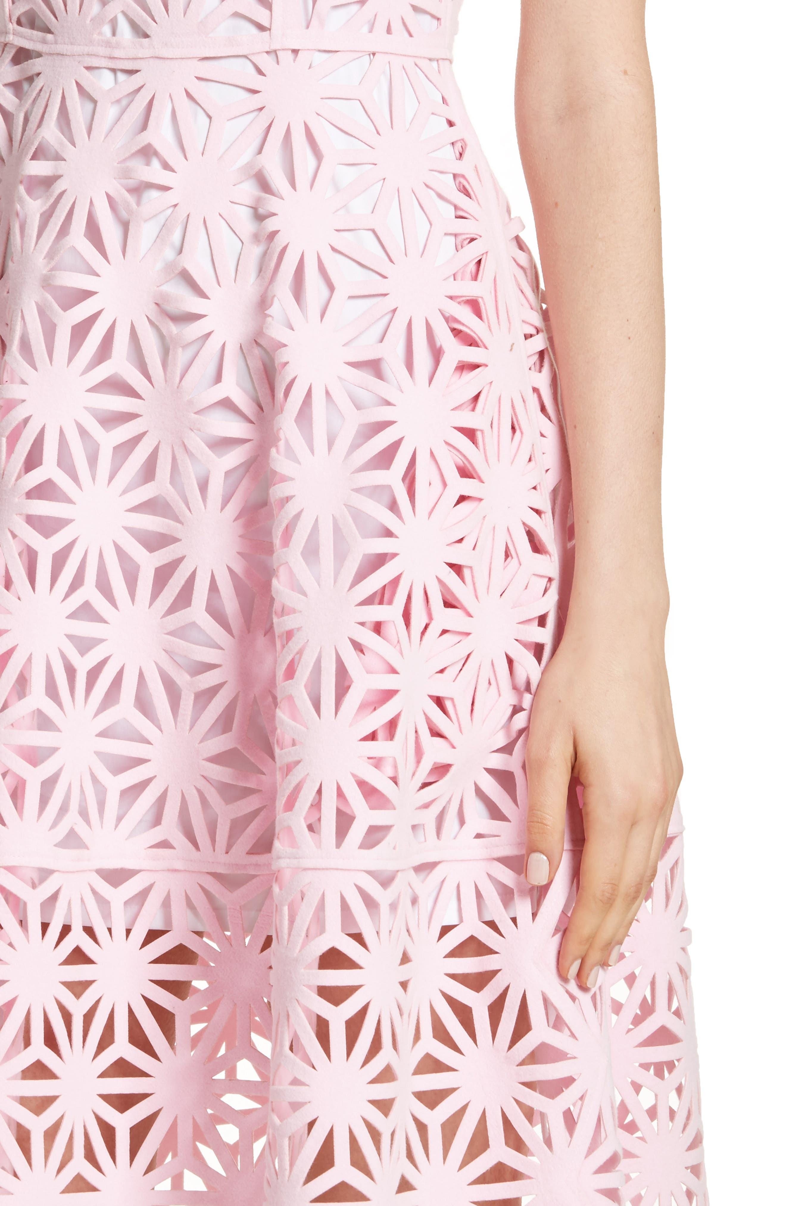 Alternate Image 4  - PASKAL Geo Laser Cut Fit & Flare Dress