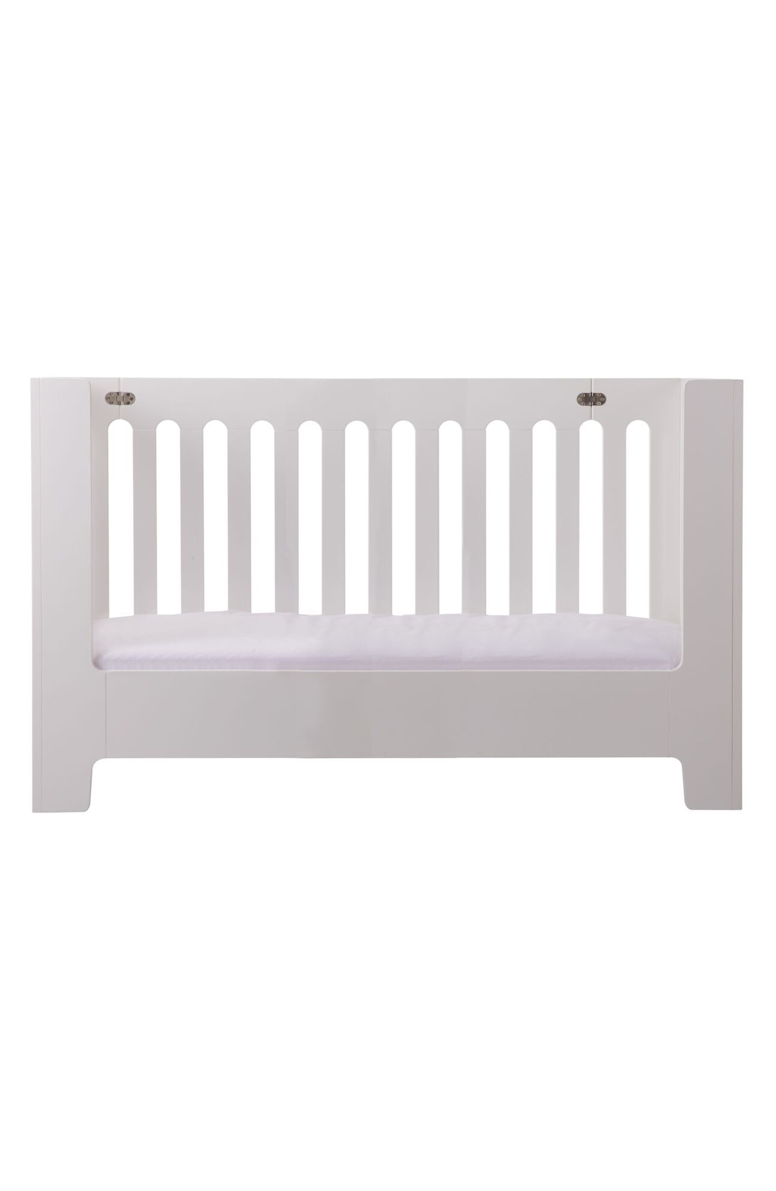 Baby Alma Max Standard Size Solid Wood Crib,                             Alternate thumbnail 3, color,                             Coconut White