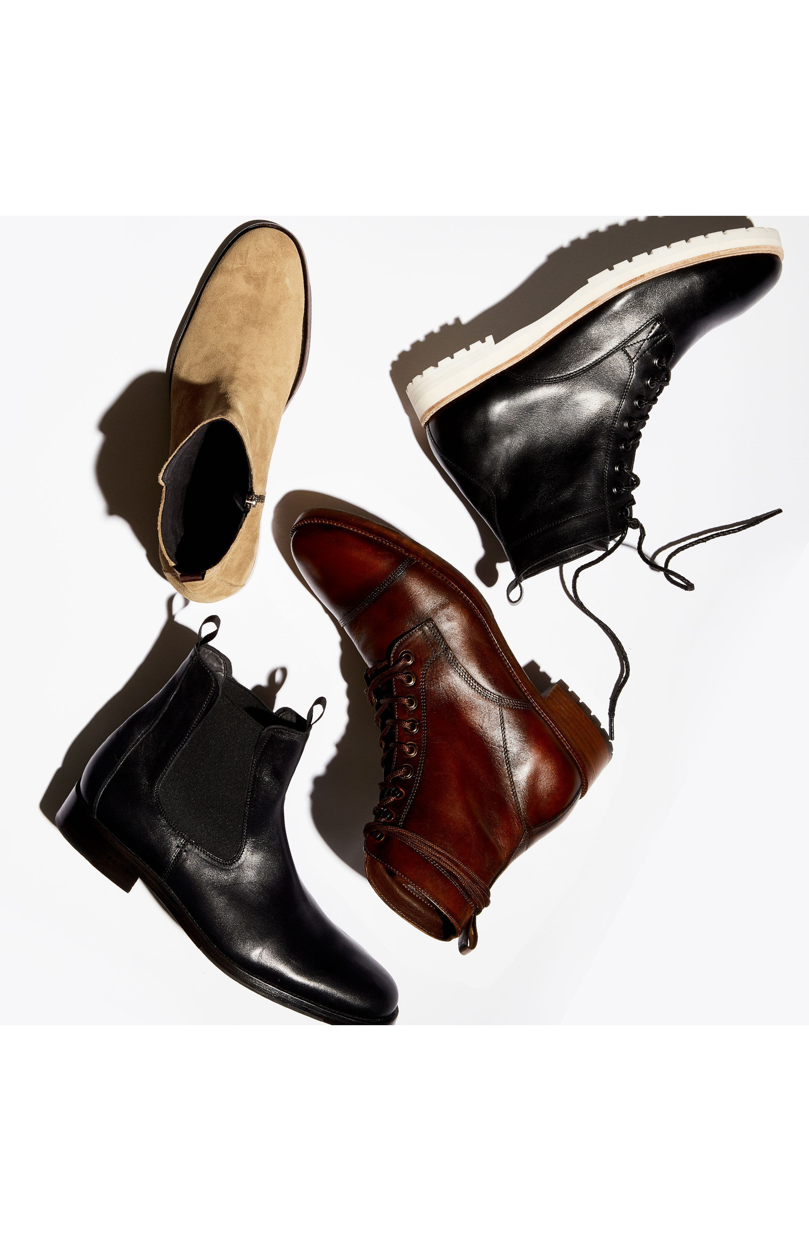 x GQ Ted Cap Toe Boot,                             Alternate thumbnail 4, color,                             Brown Leather