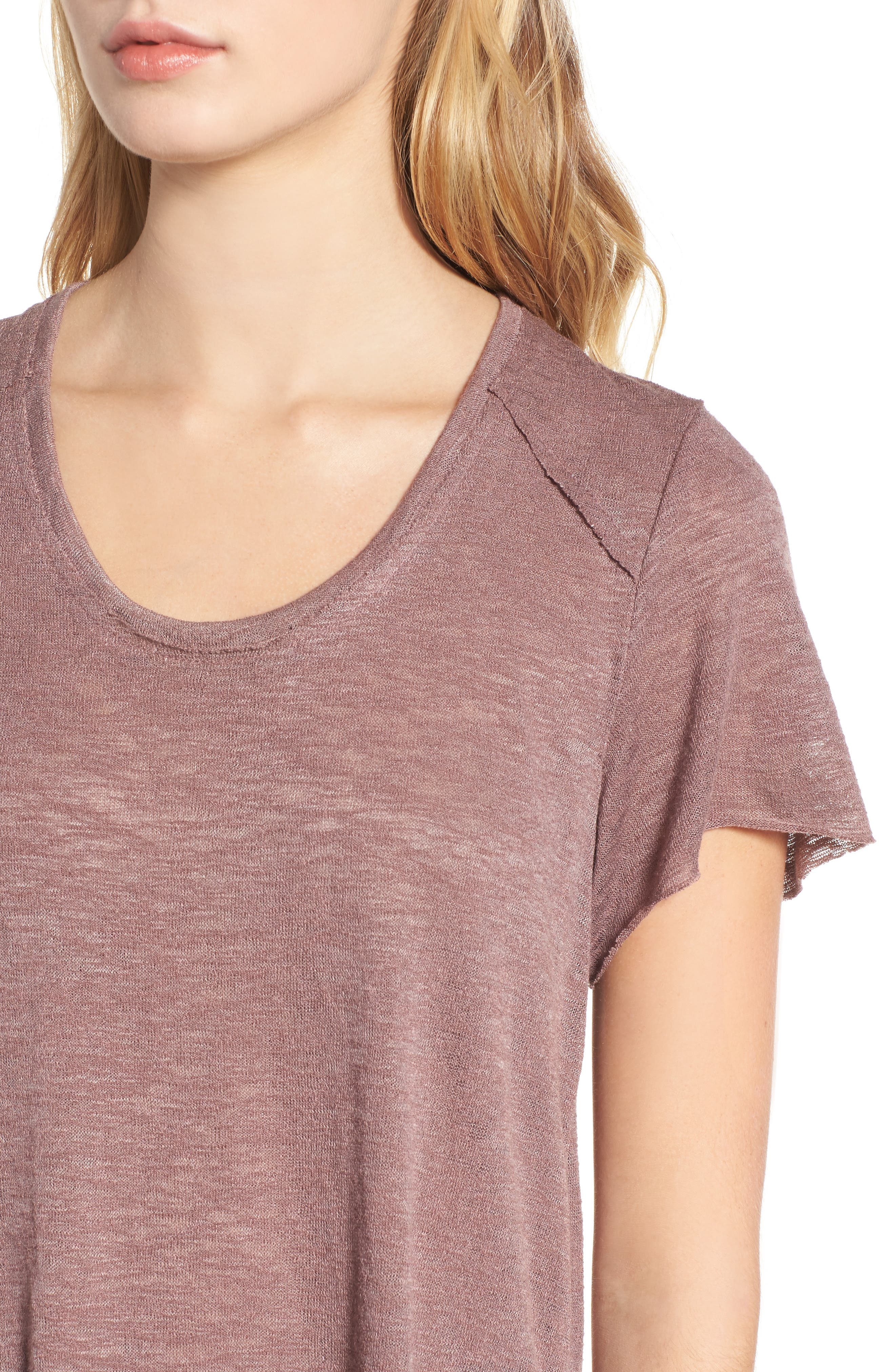 Slub Tee,                             Alternate thumbnail 4, color,                             Lavender