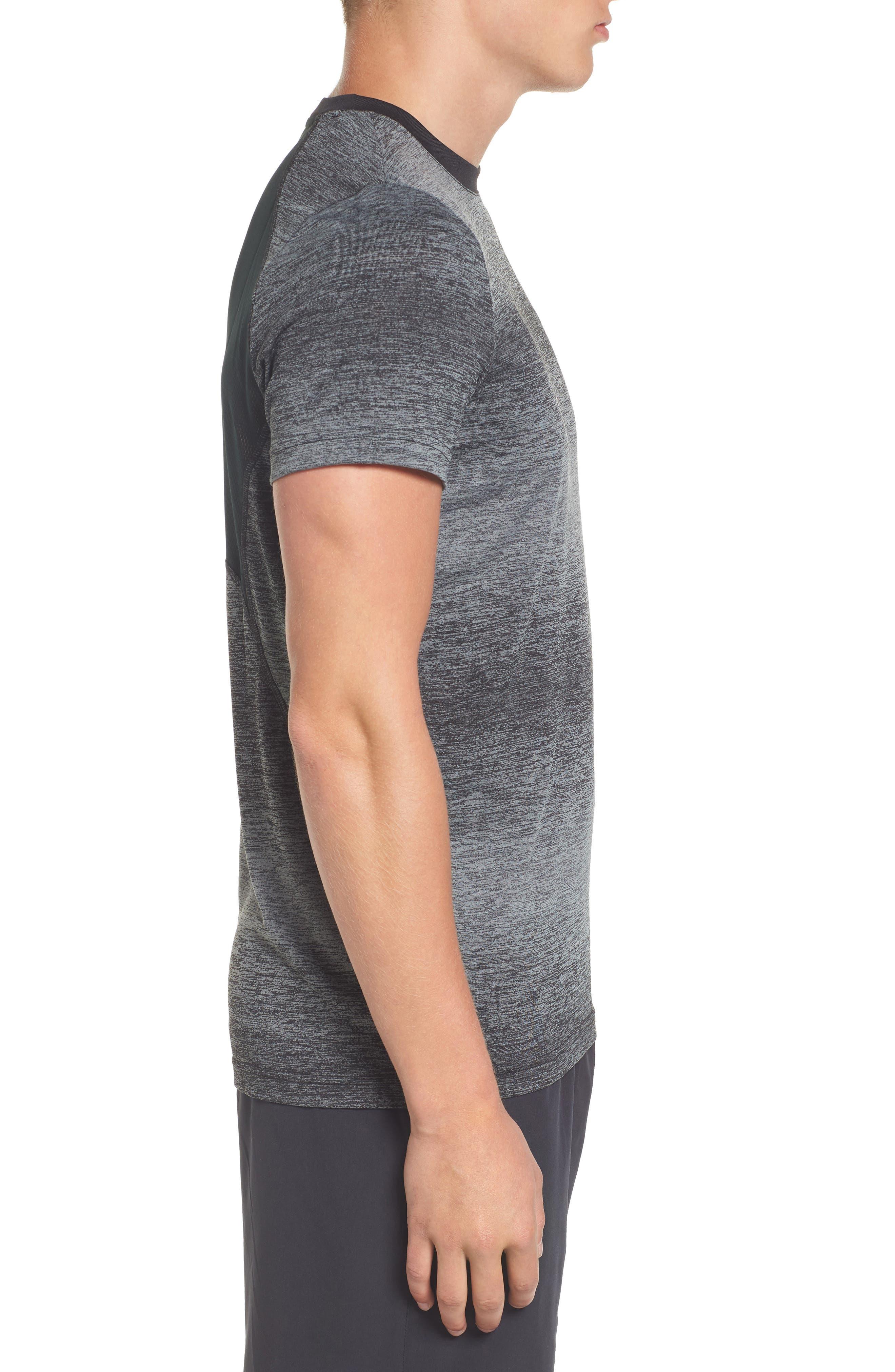 Ultra Dry Tech T-Shirt,                             Alternate thumbnail 3, color,                             Rk6 Black/ Black-Copper Orange