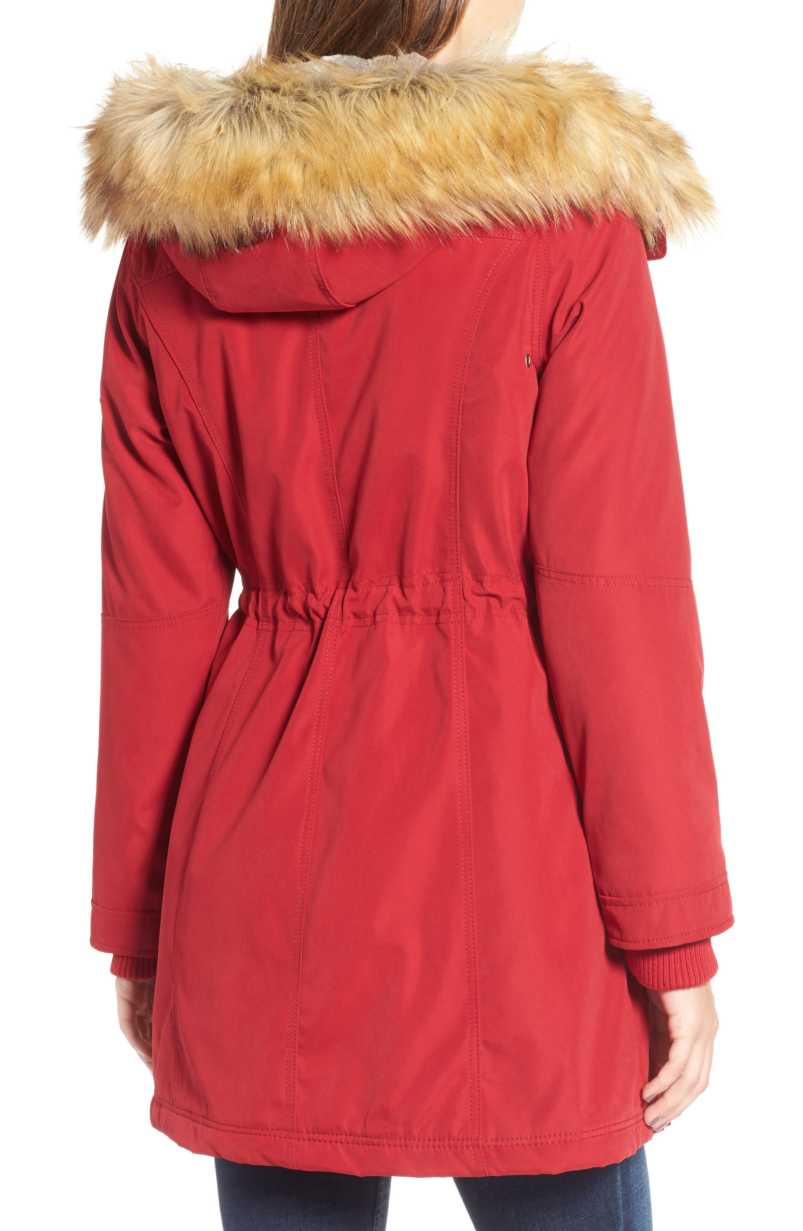 Alternate Image 2  - 1 Madison Anorak Parka with Faux Fur Trim