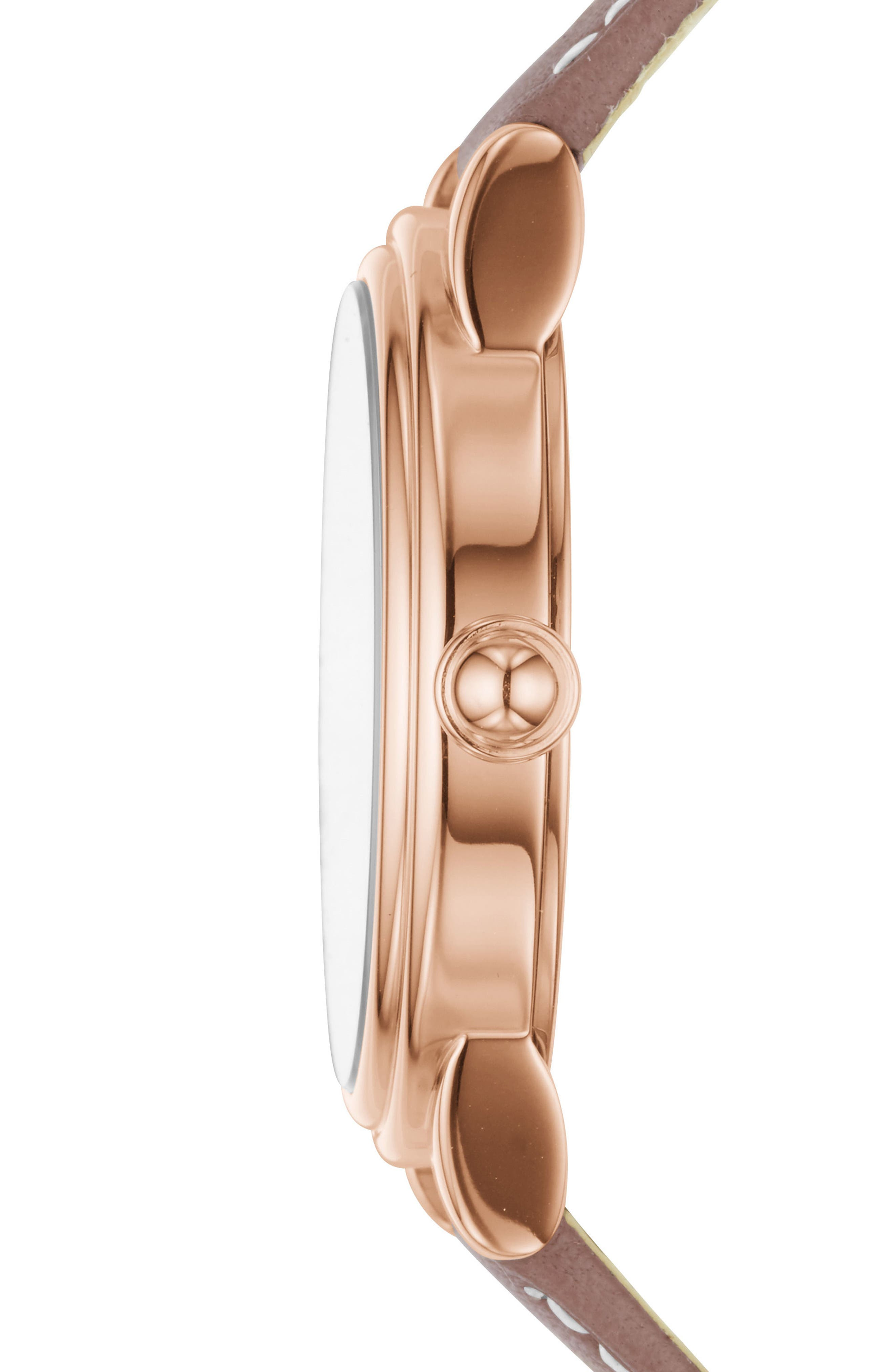 Alternate Image 2  - MARC JACOBS Corie Leather Strap Watch, 36mm