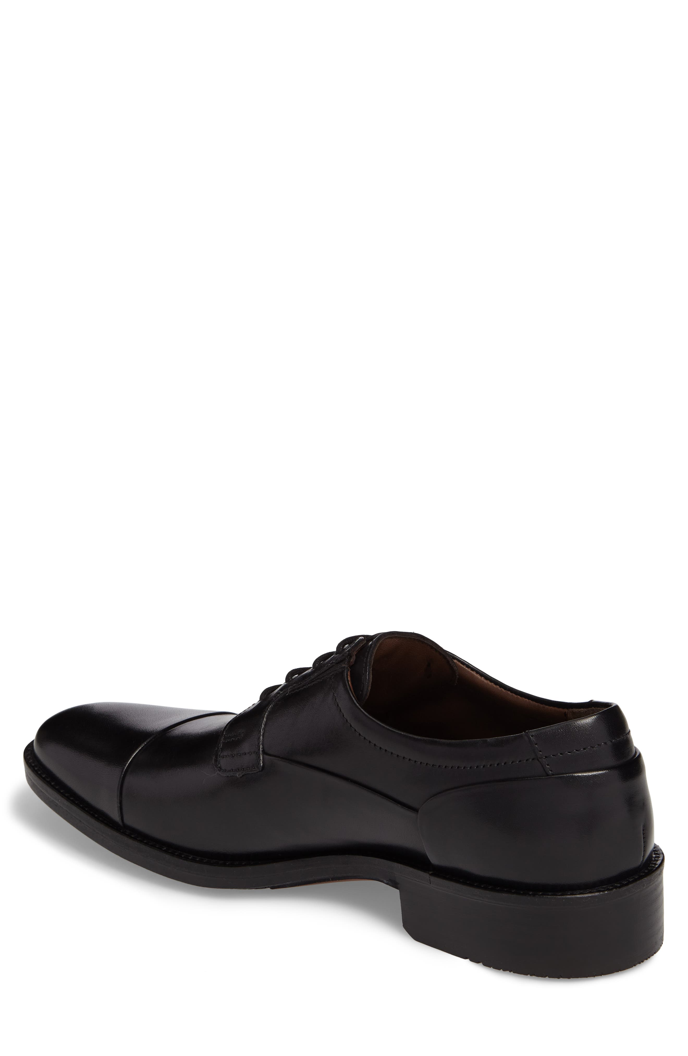 Lancaster Cap Toe Derby,                             Alternate thumbnail 2, color,                             Black