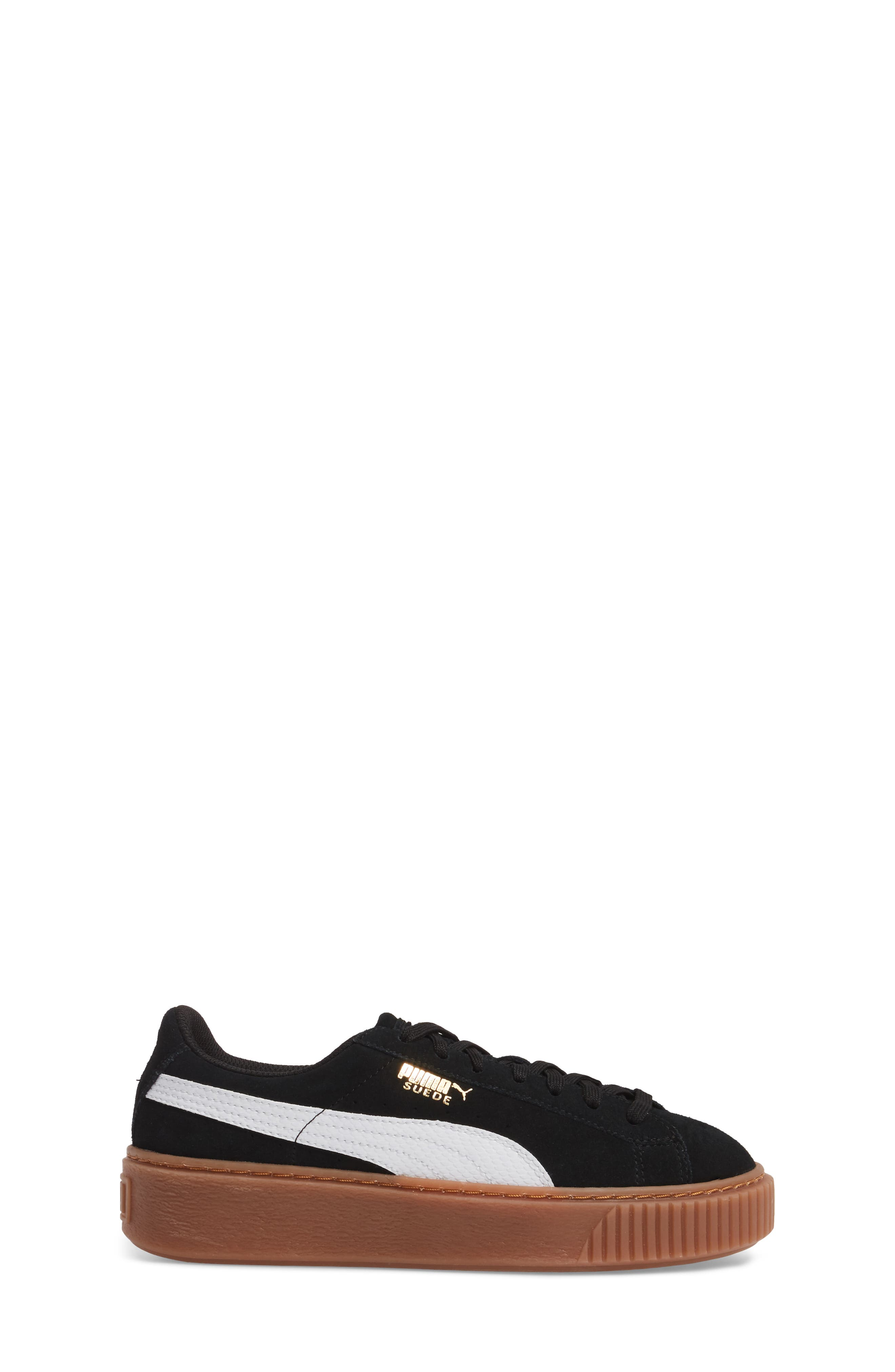Alternate Image 3  - PUMA Suede Platform Jr Sneaker (Big Kid)