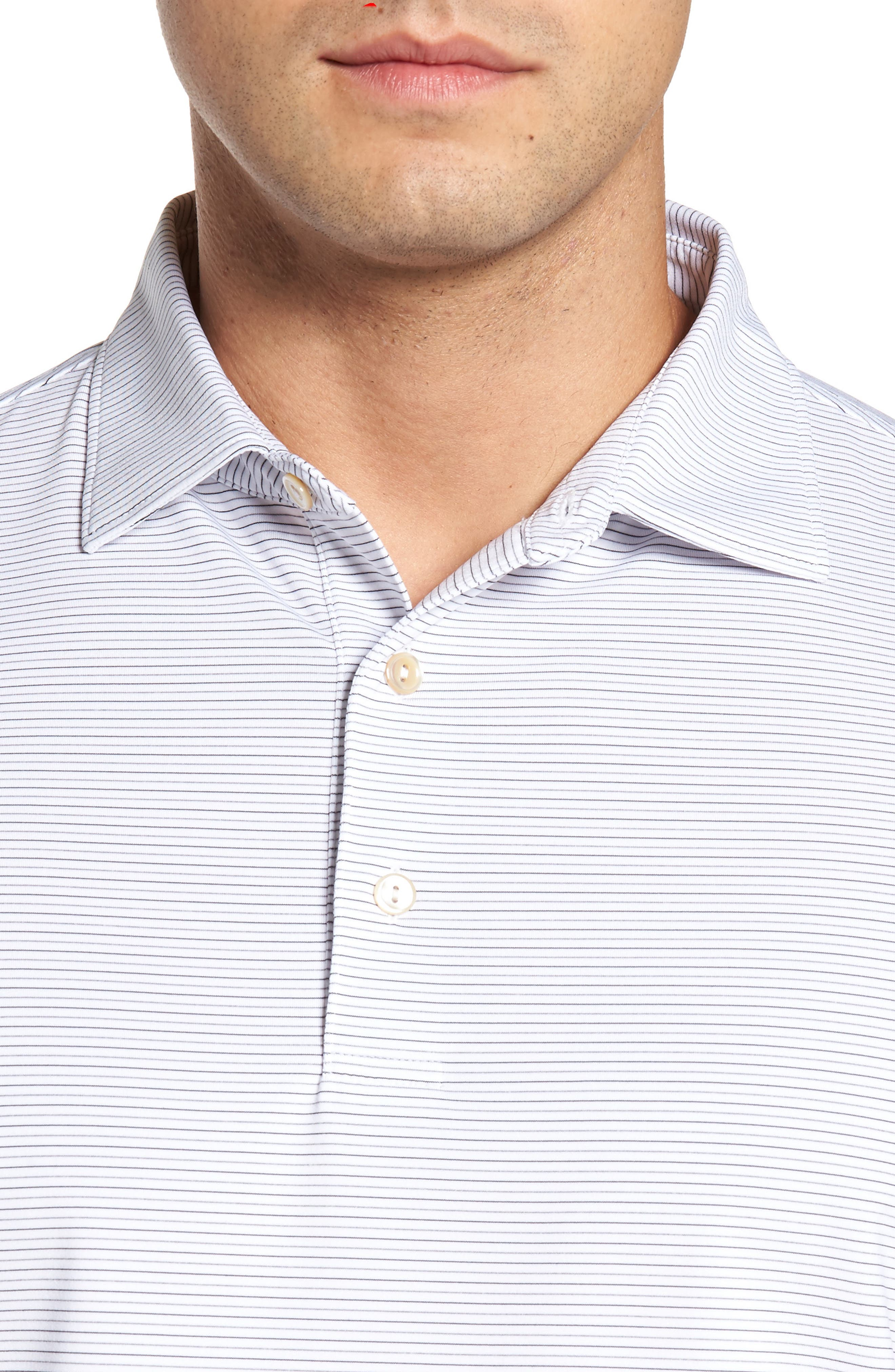 Alternate Image 4  - Peter Millar Chesapeake Stripe Stretch Jersey Polo
