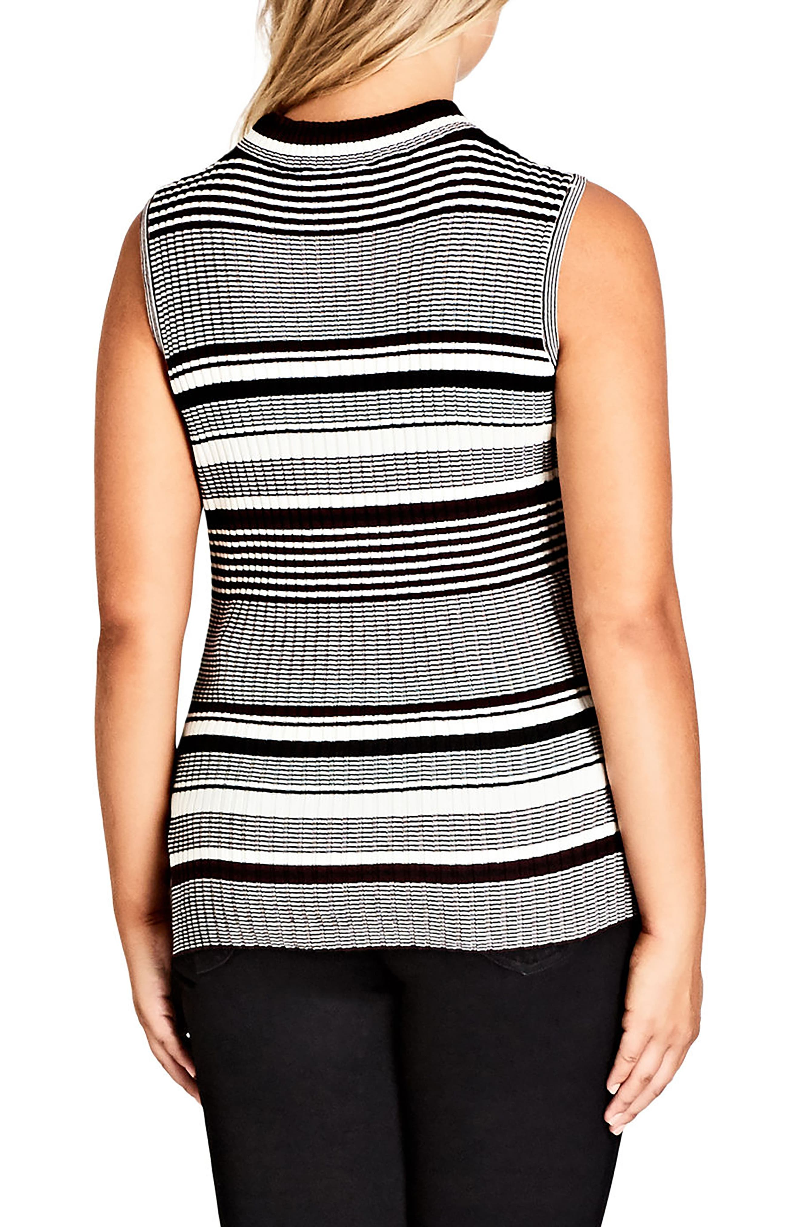 Alternate Image 2  - Chic City Stripe Play Top (Plus Size)
