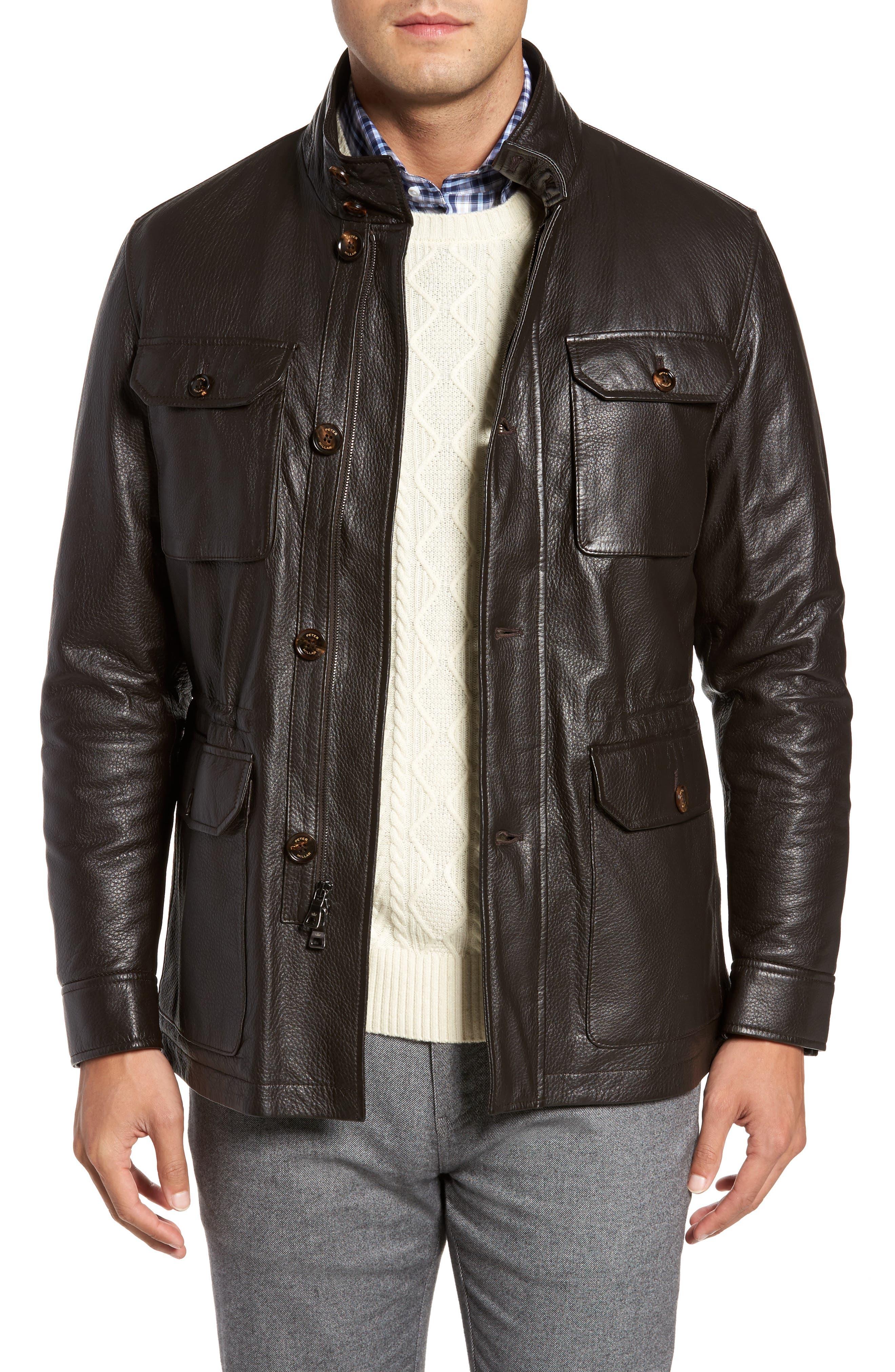 Main Image - Peter Millar Woodland Discovery Deerskin Leather Jacket