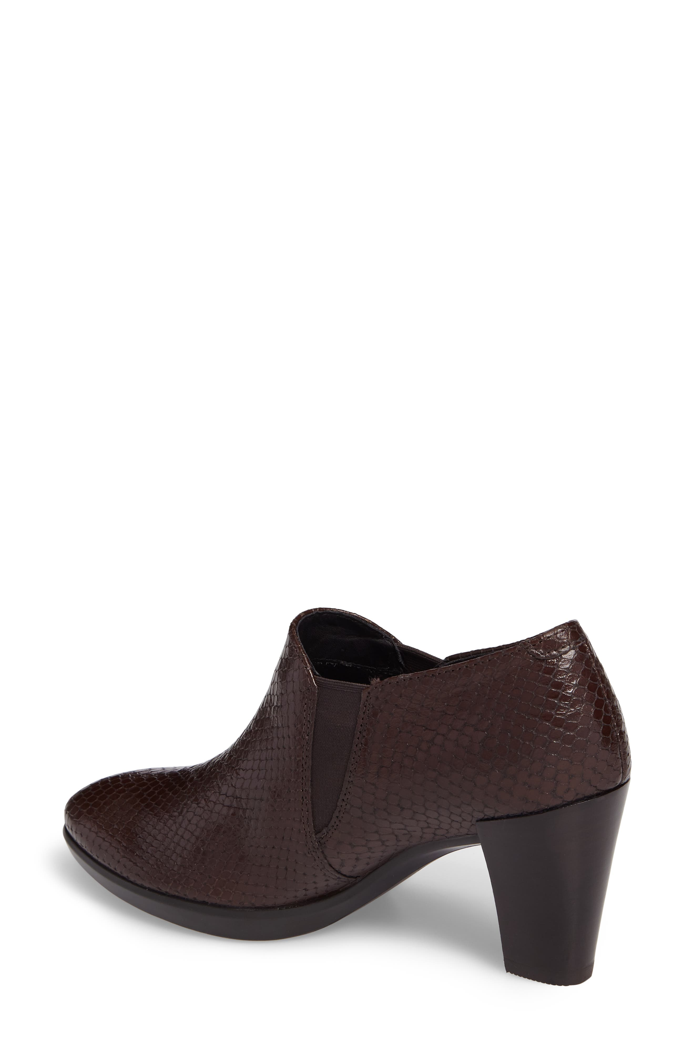Shape 55 Plateau Stack Bootie,                             Alternate thumbnail 2, color,                             Coffee Leather