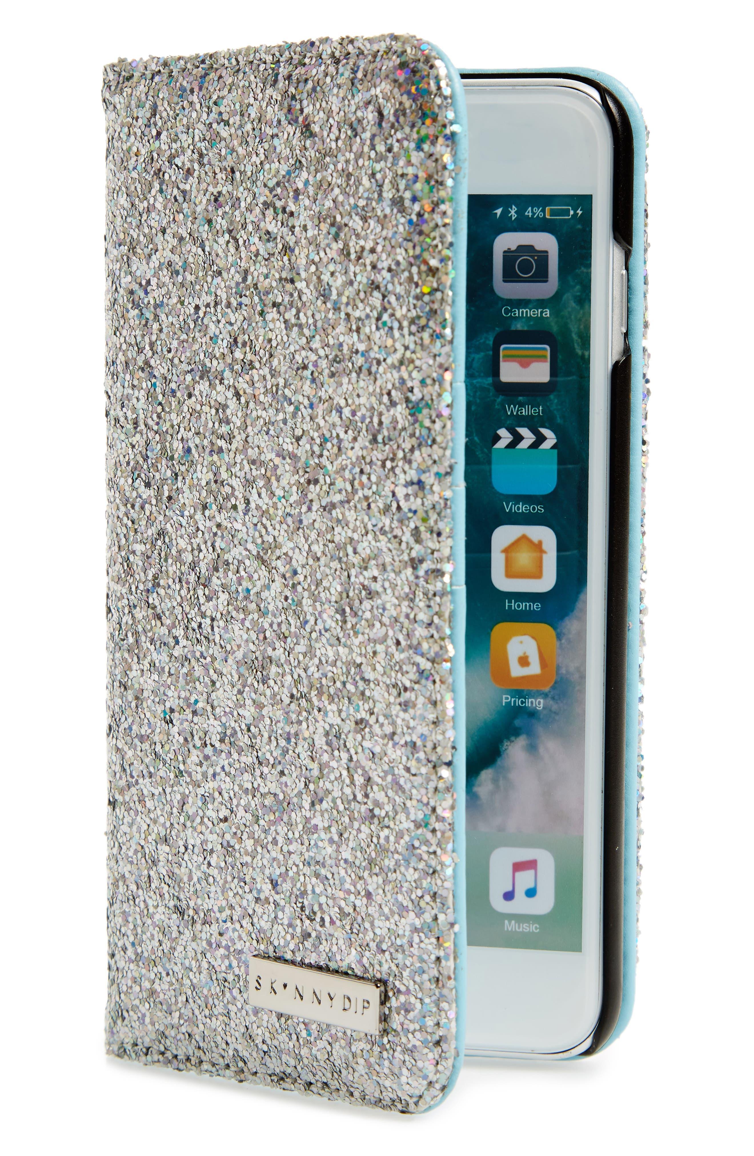 Skinny Dip Sparkle iPhone 6/7 & 6/7 Plus Folio Case