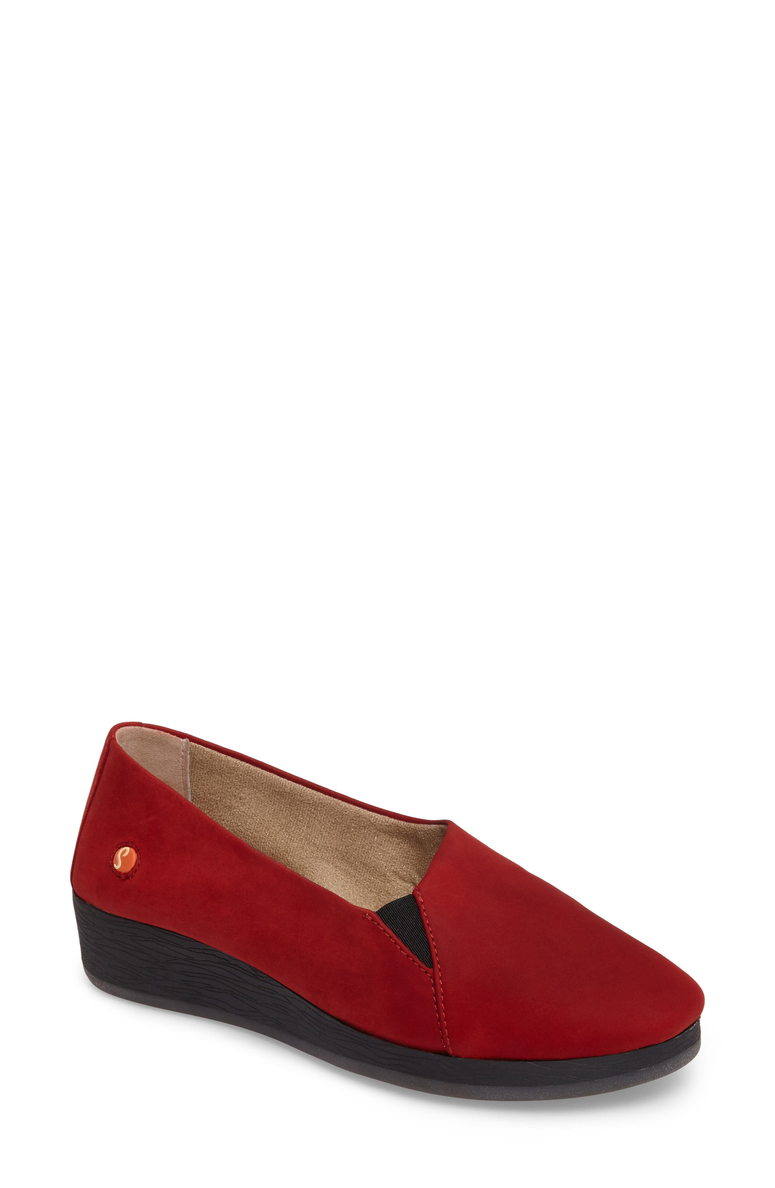 Ako Slip-On,                             Main thumbnail 1, color,                             Red Nubuck Leather
