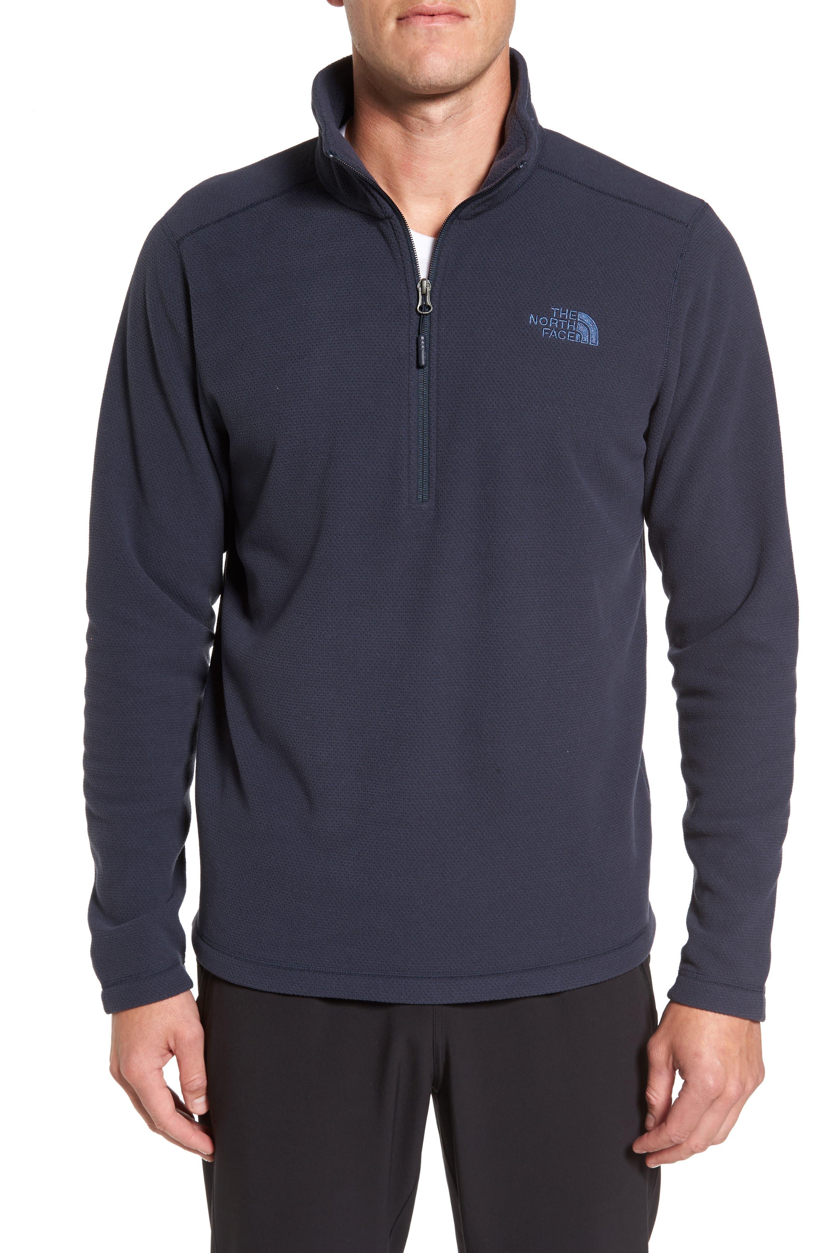 Texture Cap Rock Quarter Zip Fleece Jacket,                         Main,                         color, Urban Navy Texture