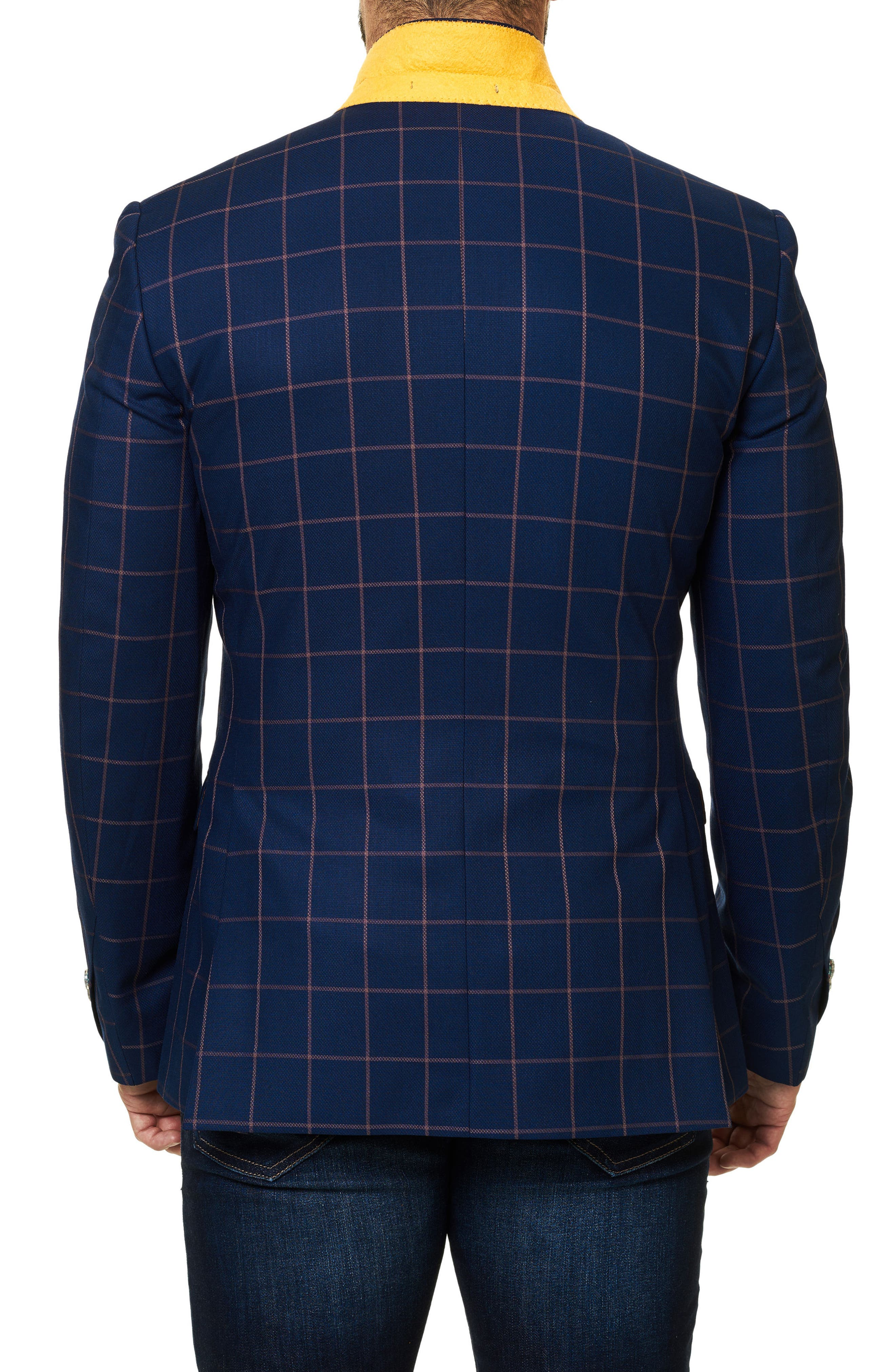 Descarte Windowpane Sport Coat,                             Alternate thumbnail 3, color,                             Medium Blue