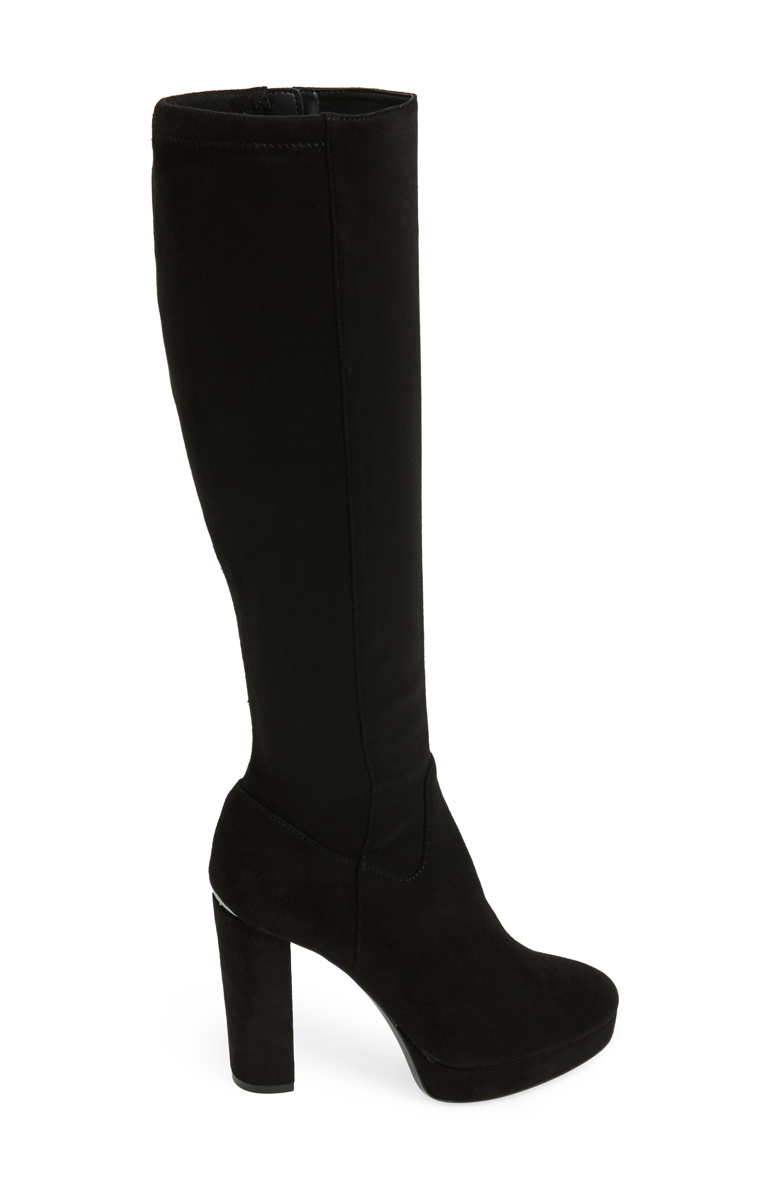 Mailia Tall Boot,                             Alternate thumbnail 3, color,                             Black Suede