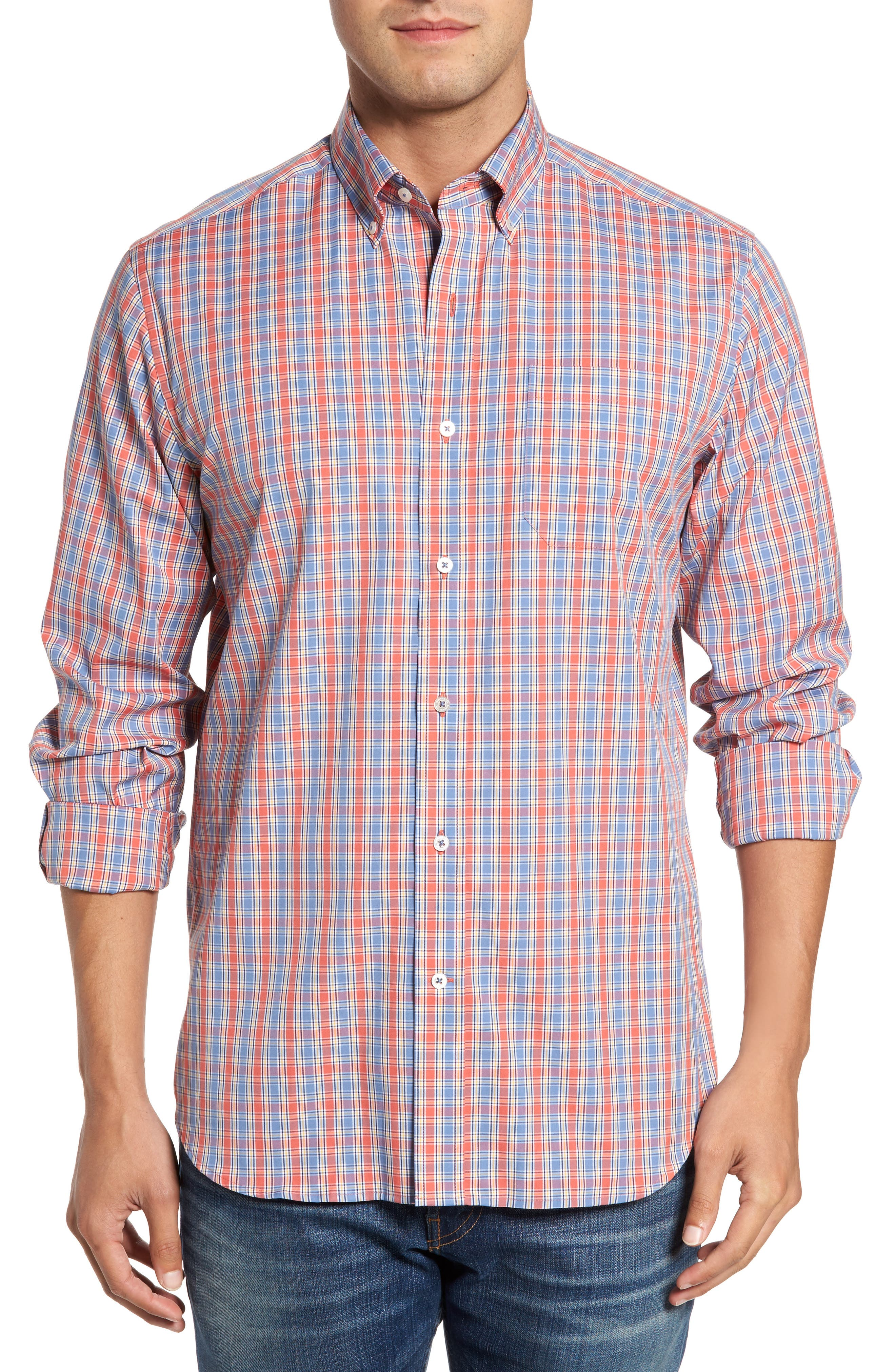 Southern Tide Provision Plaid Classic Fit Sport Shirt