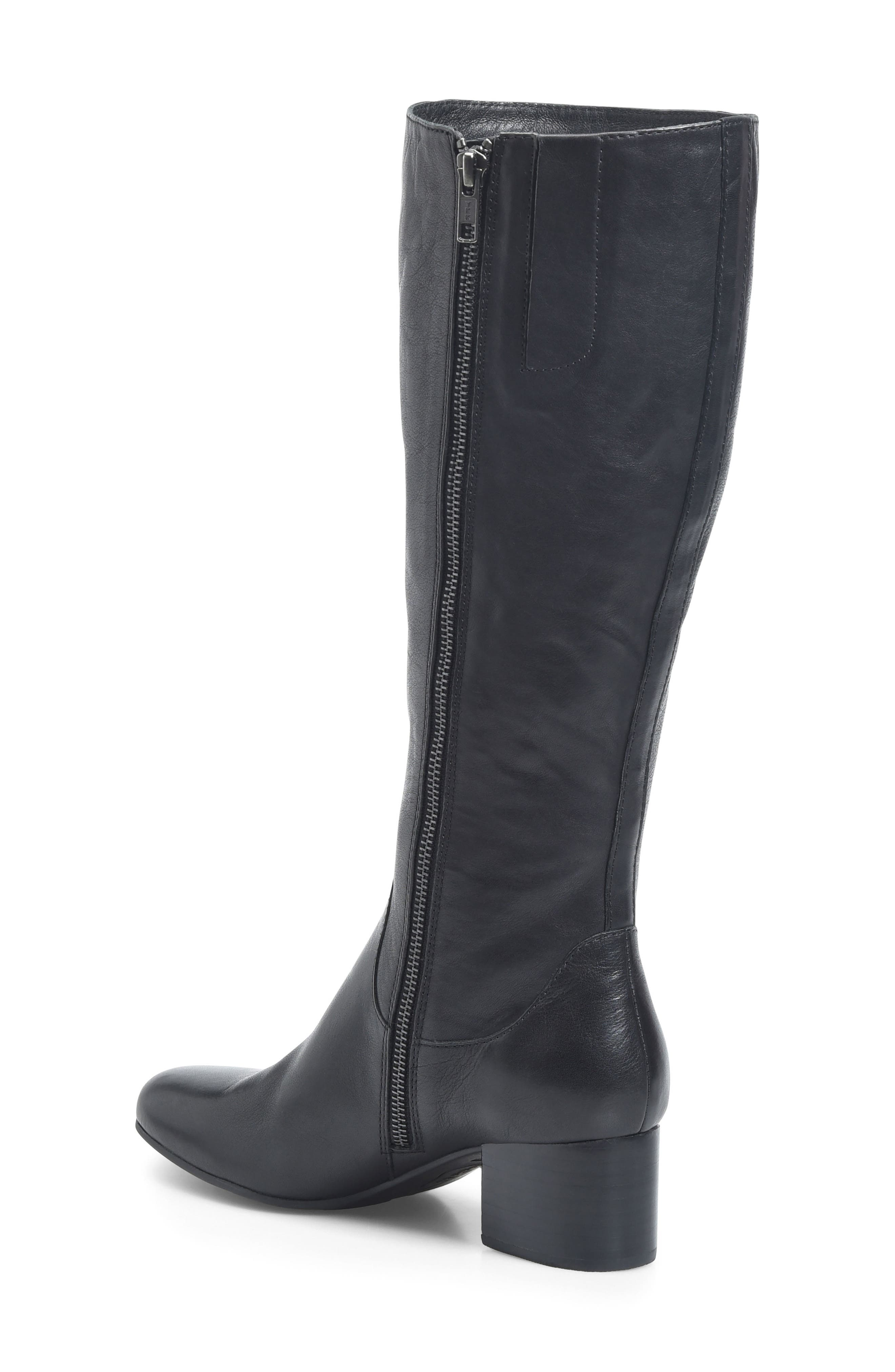 Avala Knee High Boot,                             Alternate thumbnail 2, color,                             Black Leather