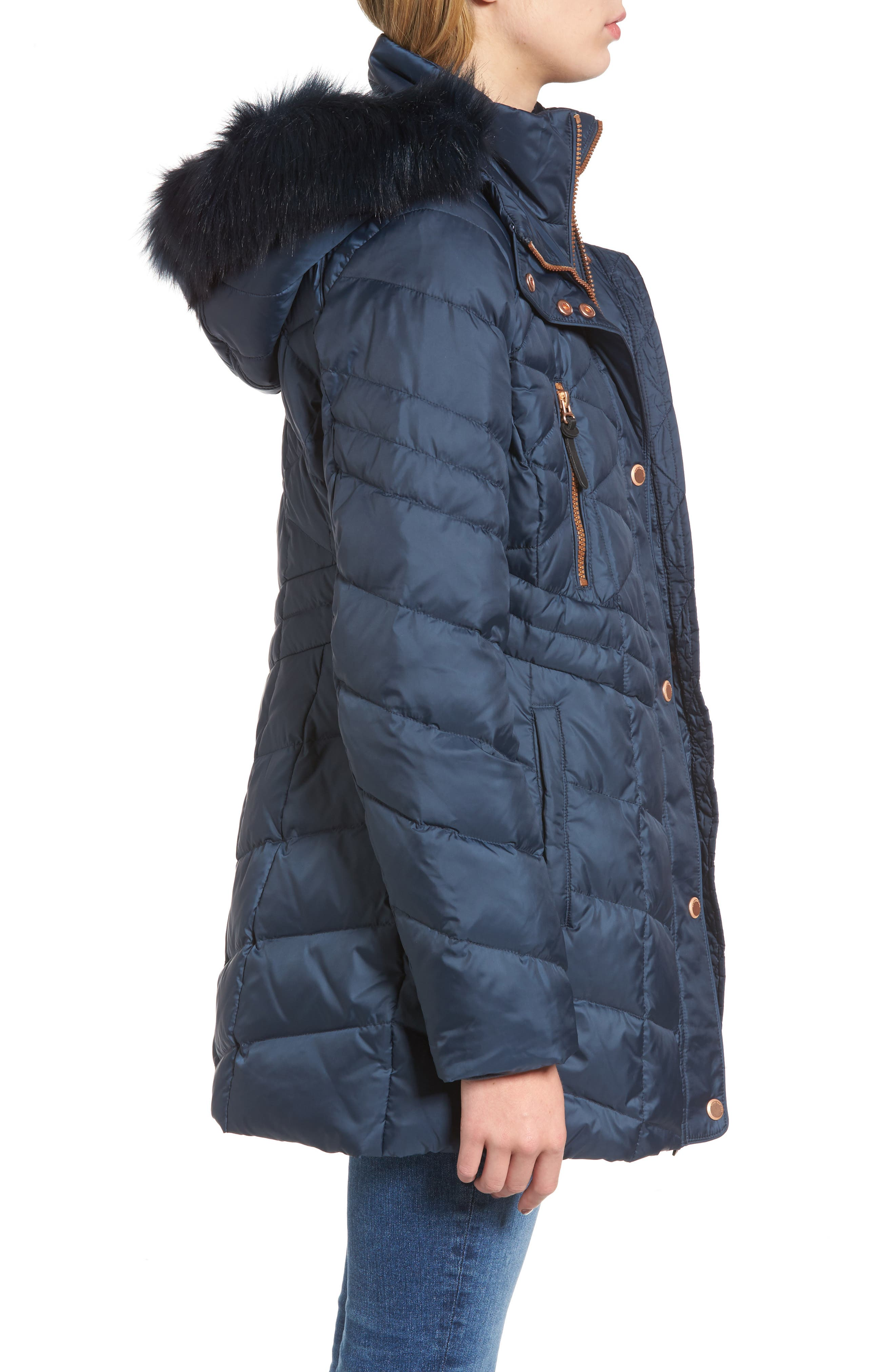 Alternate Image 3  - Andrew Marc Marley 30 Coat with Detachable Faux Fur