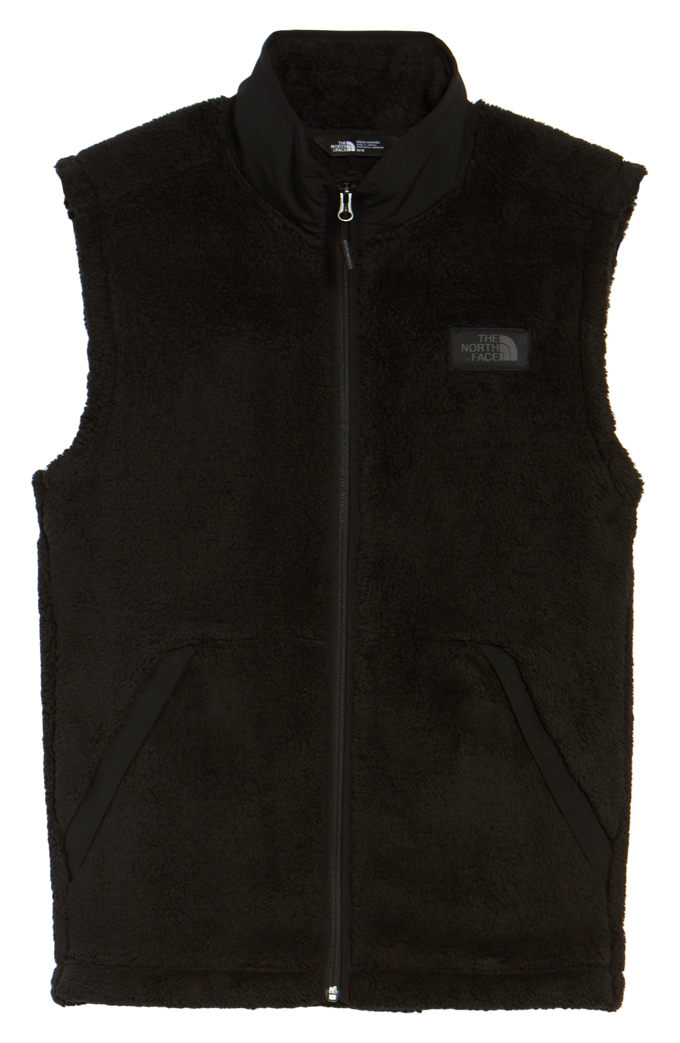 Campshire Fleece Vest,                             Alternate thumbnail 6, color,                             Black