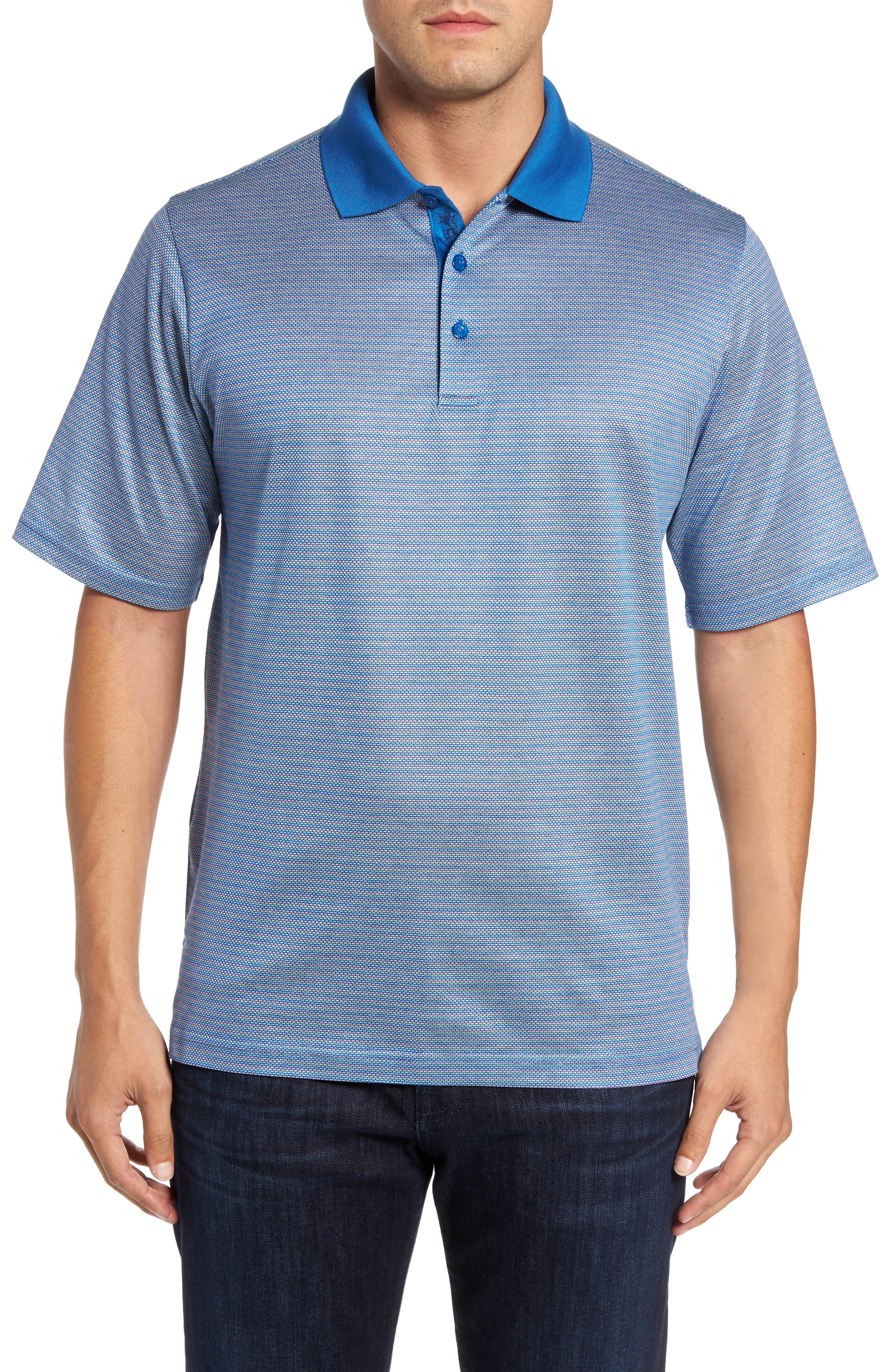 Classic Fit Dobby Polo,                         Main,                         color, Classic Blue