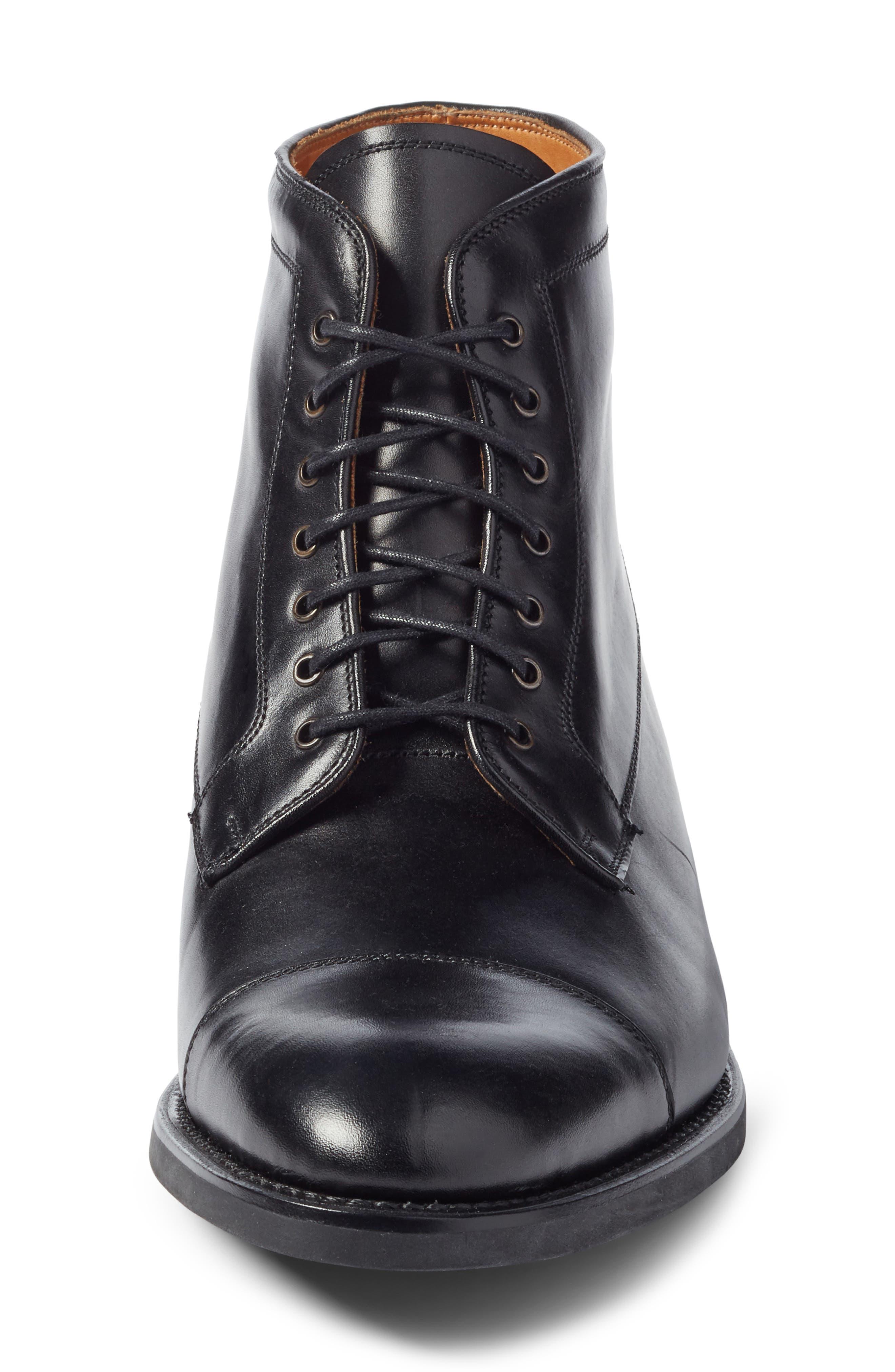 Chester Cap Toe Boot,                             Alternate thumbnail 4, color,                             Black Leather