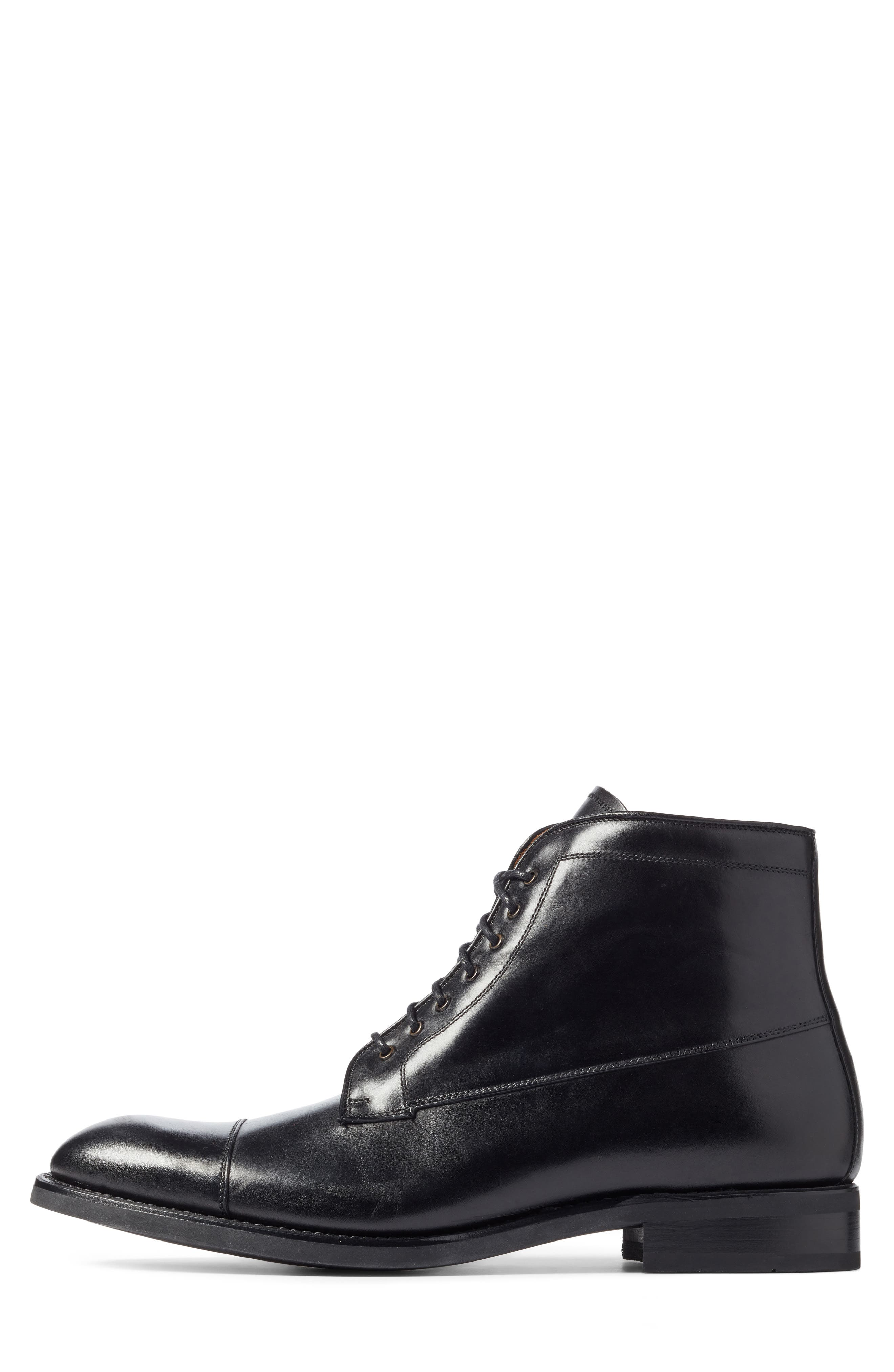 Chester Cap Toe Boot,                             Alternate thumbnail 3, color,                             Black Leather