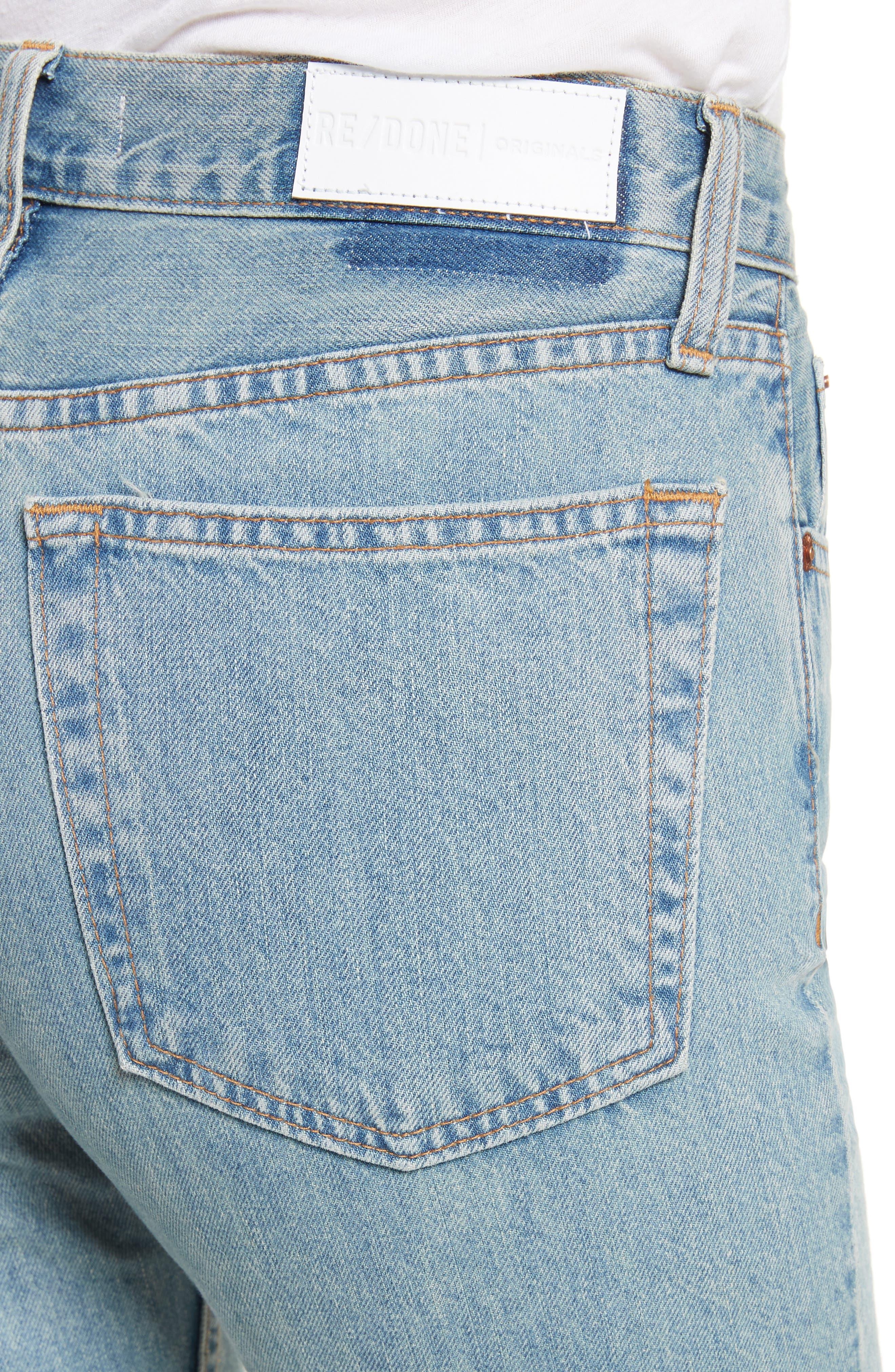 Originals High Waist Ankle Zip Jeans,                             Alternate thumbnail 4, color,                             90S