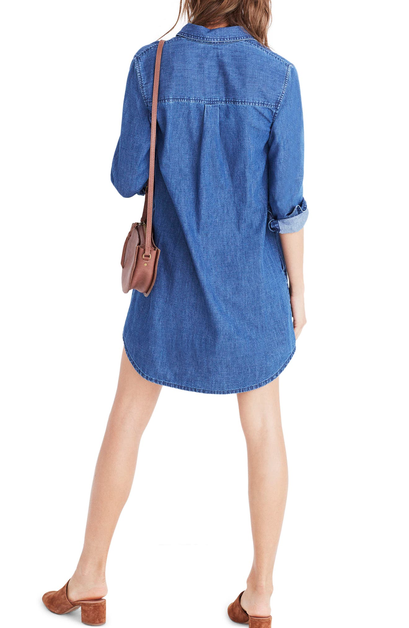 Alternate Image 2  - Madewell Denim Popover Shirtdress