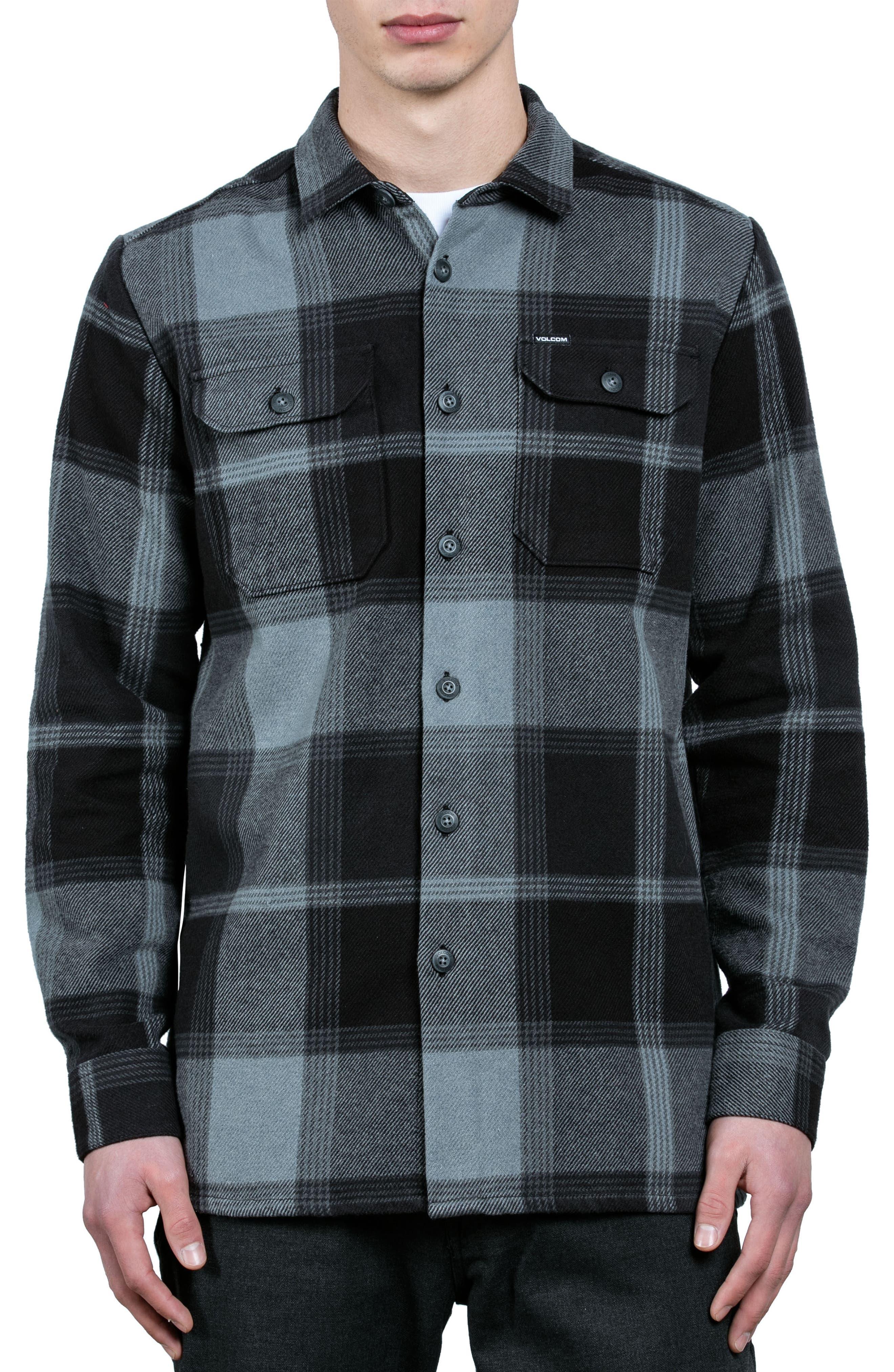 Alternate Image 1 Selected - Volcom Heavy Daze Plaid Flannel Shirt Jacket