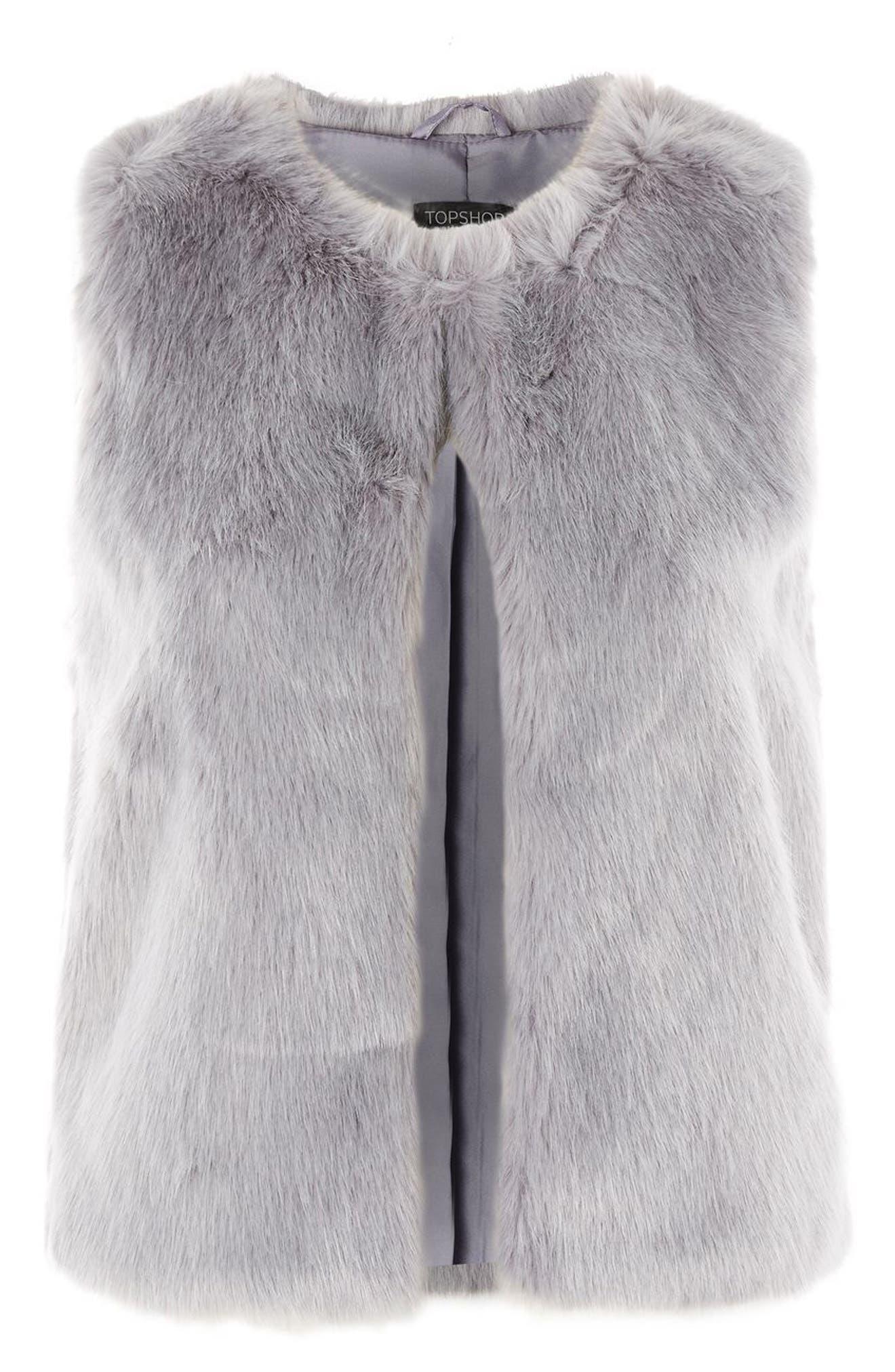 Alternate Image 4  - Topshop Clair Faux Fur Vest