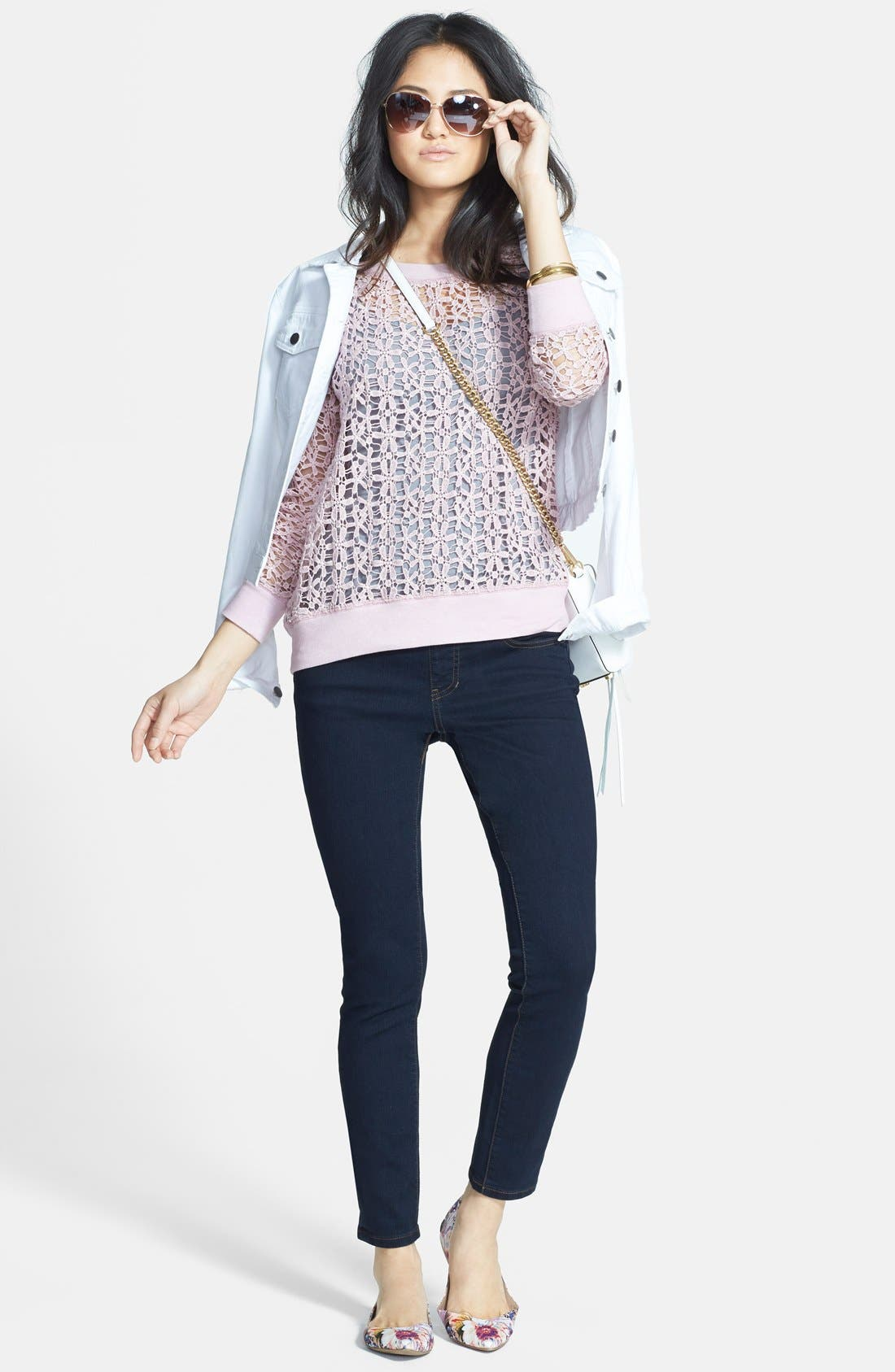 Alternate Image 2  - Jag Jeans 'Nora' Pull-On Skinny Stretch Jeans (After Midnight) (Regular & Petite)