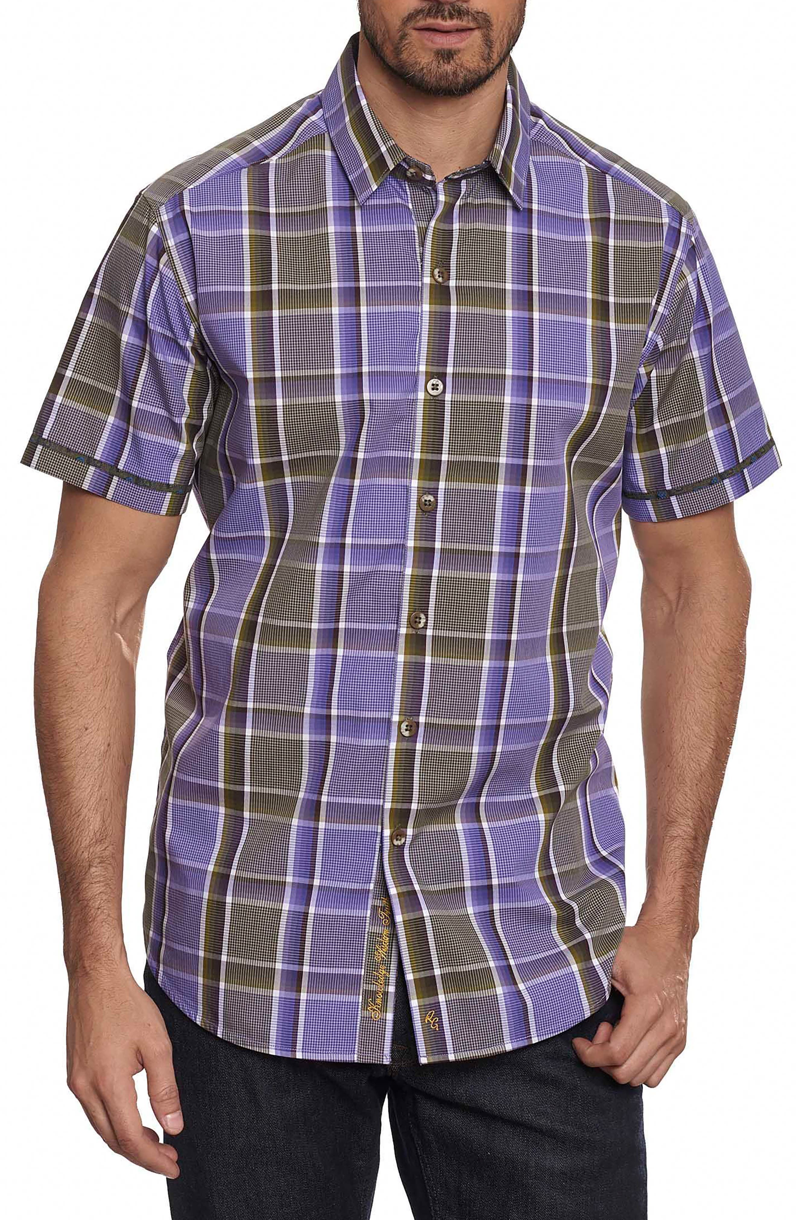 Stone Bridge Classic Fit Sport Shirt,                             Main thumbnail 1, color,                             Purple