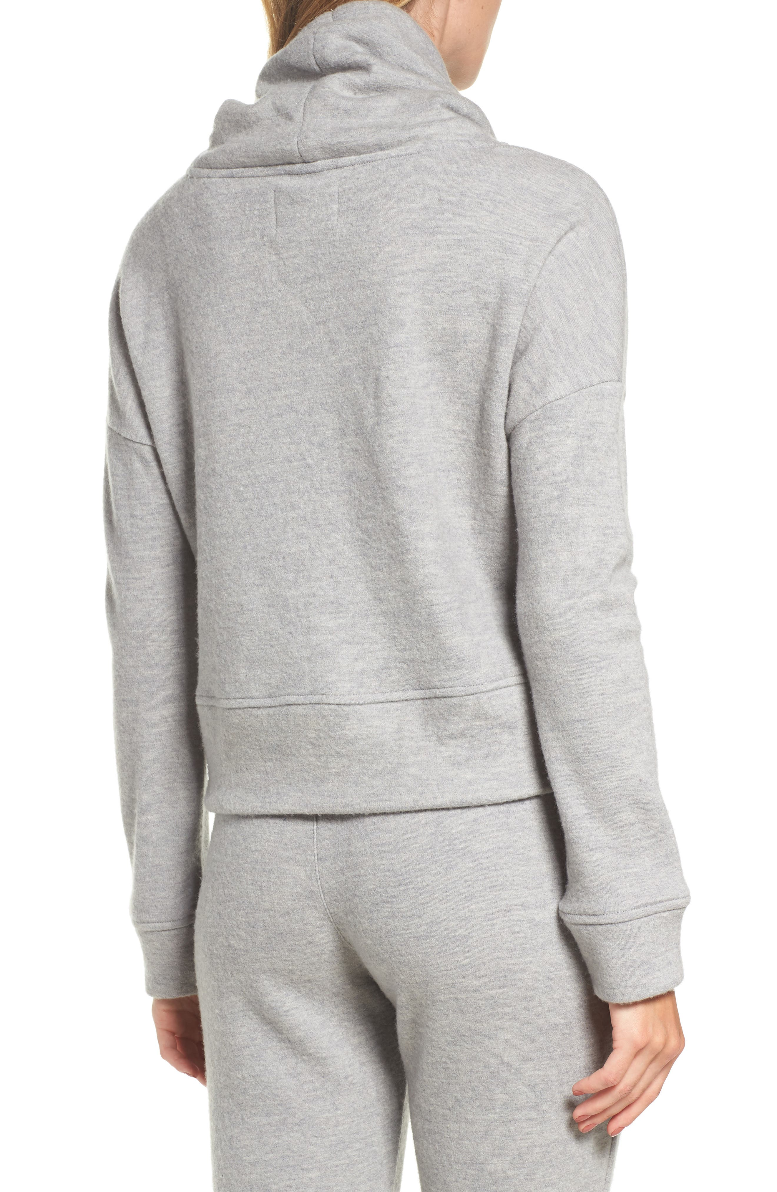 Alternate Image 2  - UGG® Funnel Neck Crop Merino Wool Sweatshirt
